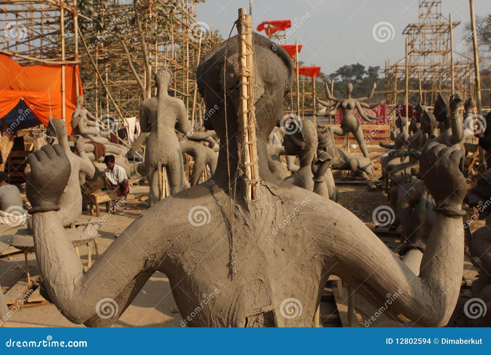 Esculturas da argila