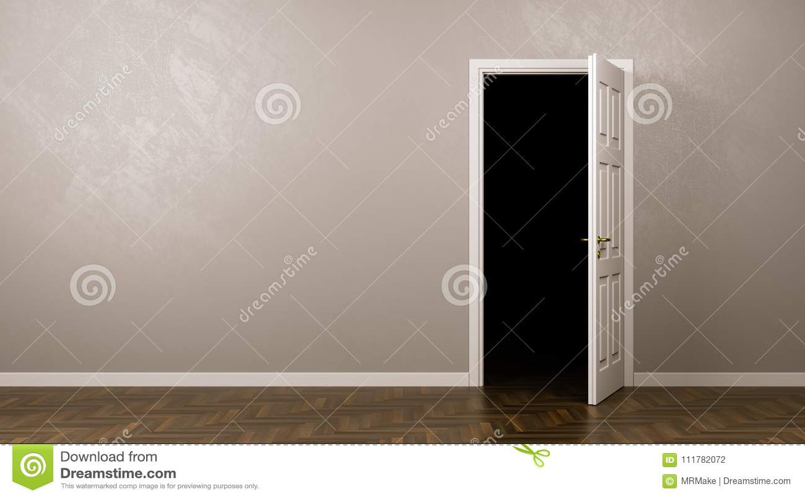 Escuridão atrás da porta
