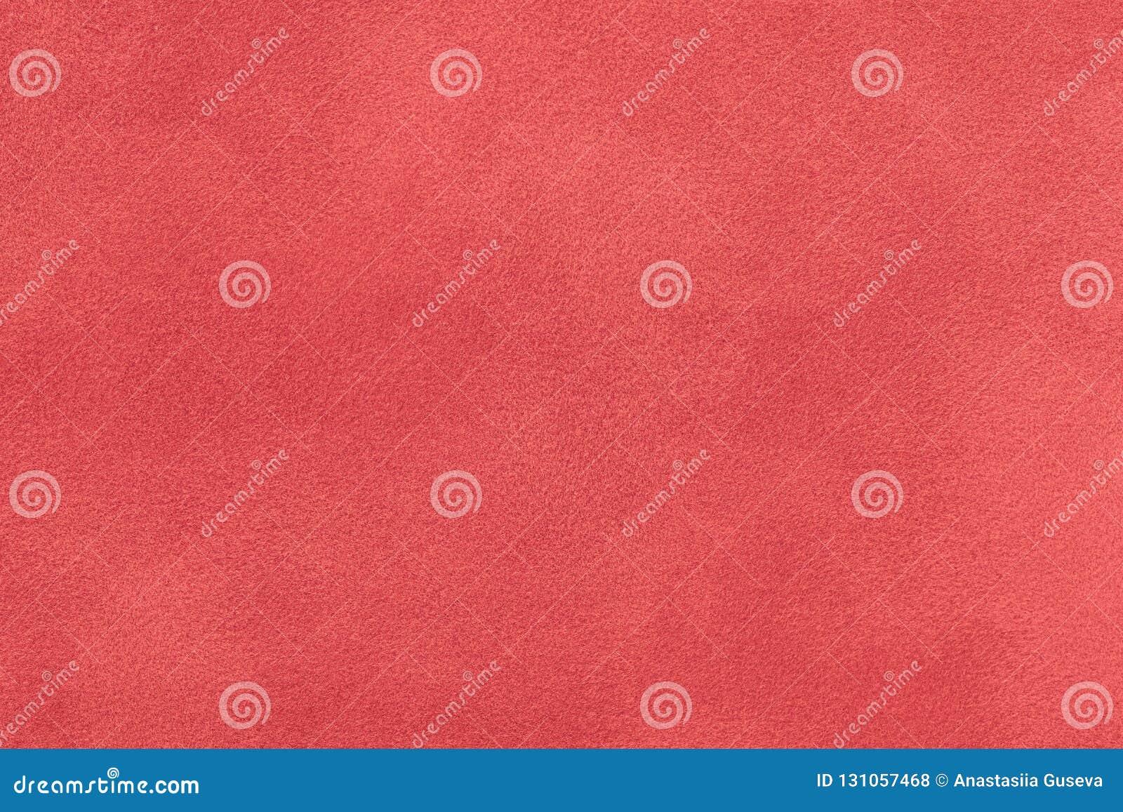 Escuro - close up matt vermelho da tela da camurça Textura de veludo