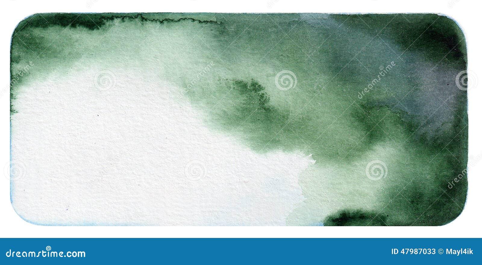Escuro - fundo verde da aquarela
