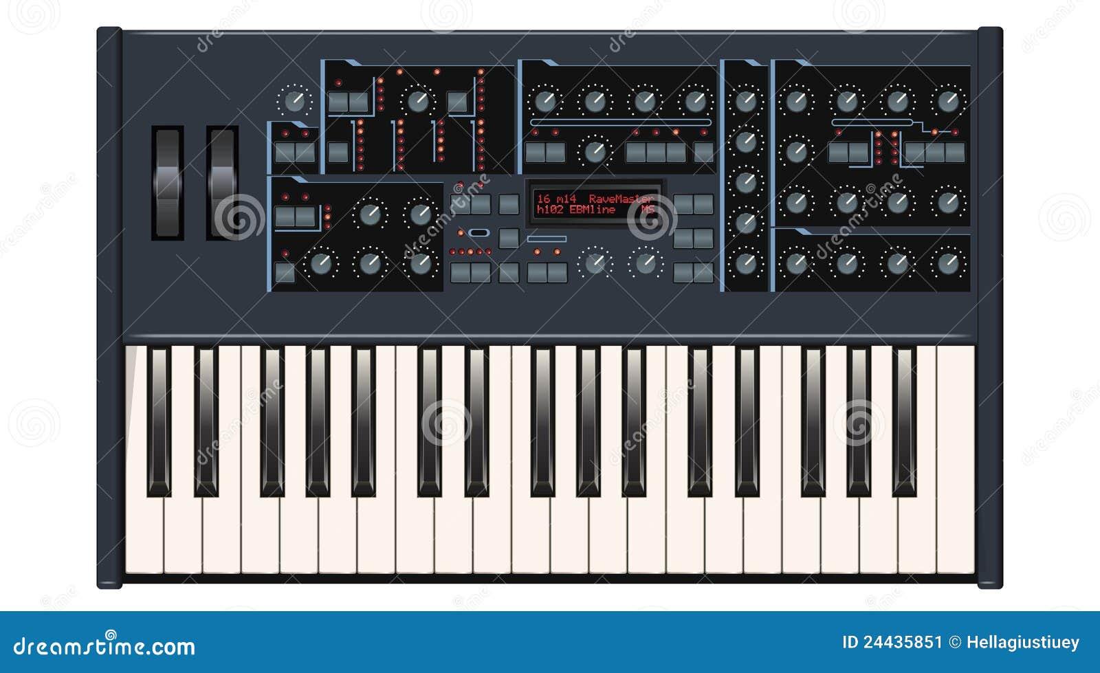 Escuro - sintetizador cinzento