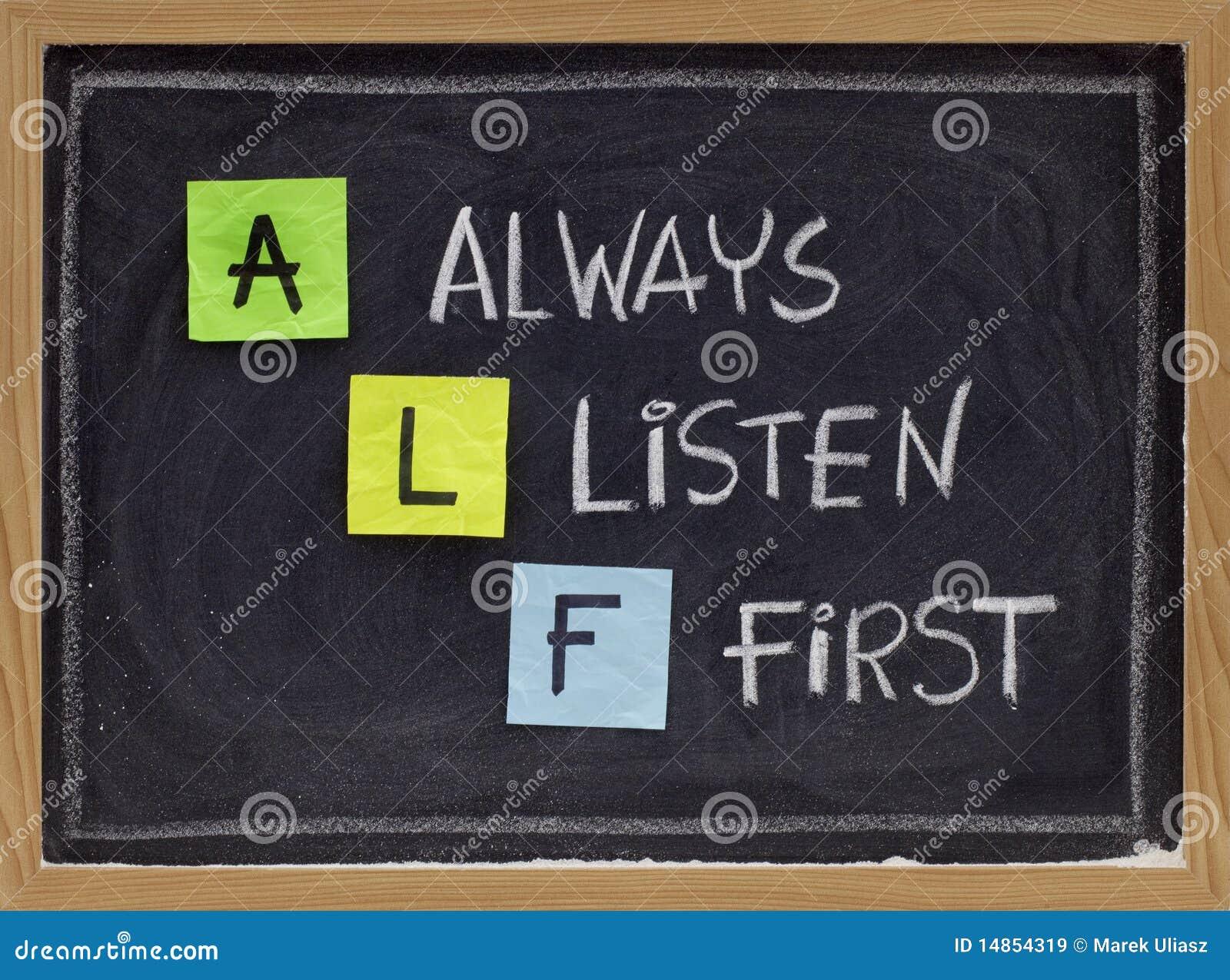 Escuta sempre primeiramente - o acrônimo de ALF