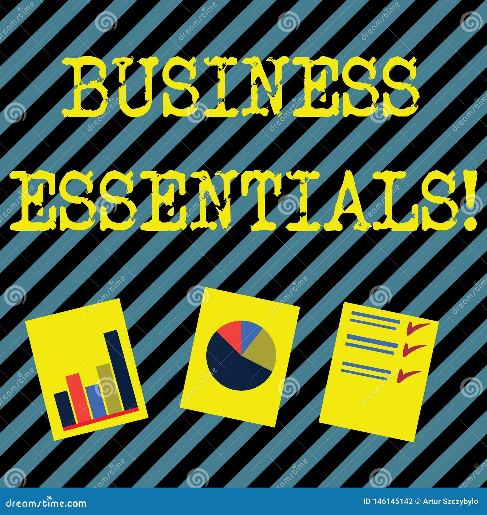 Esencial del negocio de demostraci?n de la muestra del texto Ideas dominantes importantes de la foto conceptual de mejorar la pre