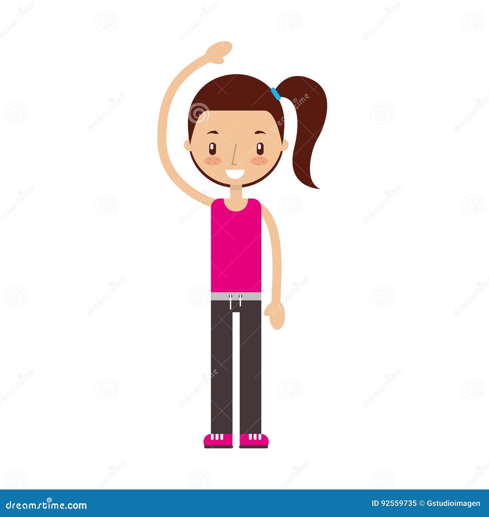 Esercitazione della ragazza di forma fisica