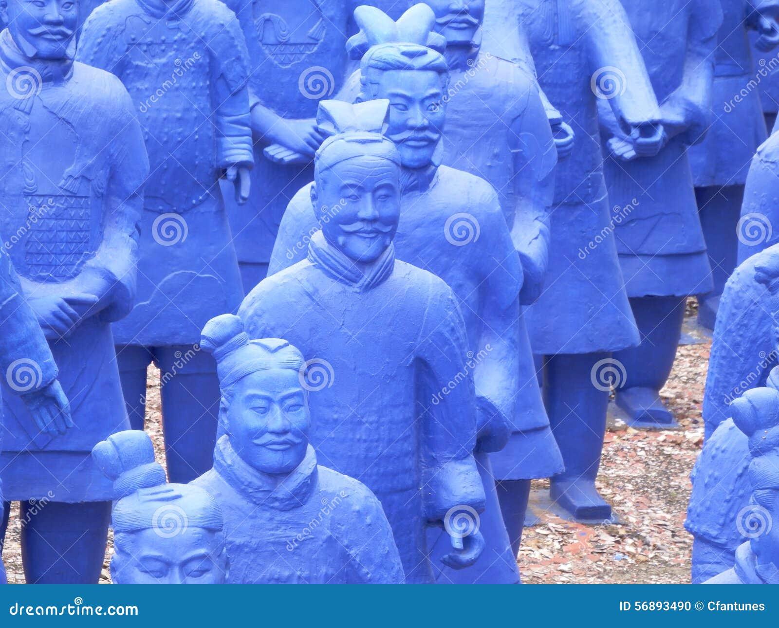 Esercito blu di terracota