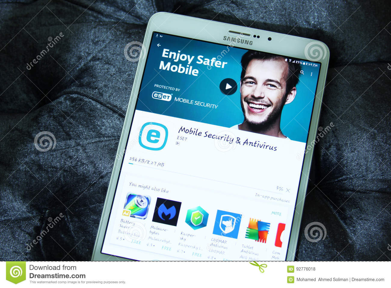 Eset Mobile Security And Antivirus App Editorial Stock Photo - Image
