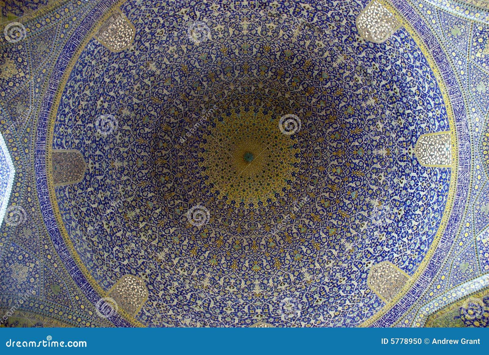 Esfahan moské för kupol