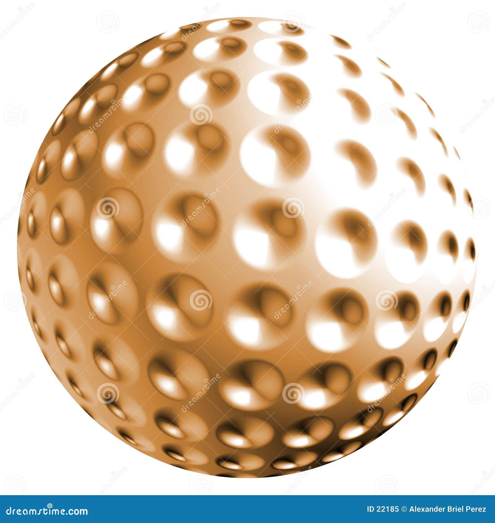 Esfera alaranjada