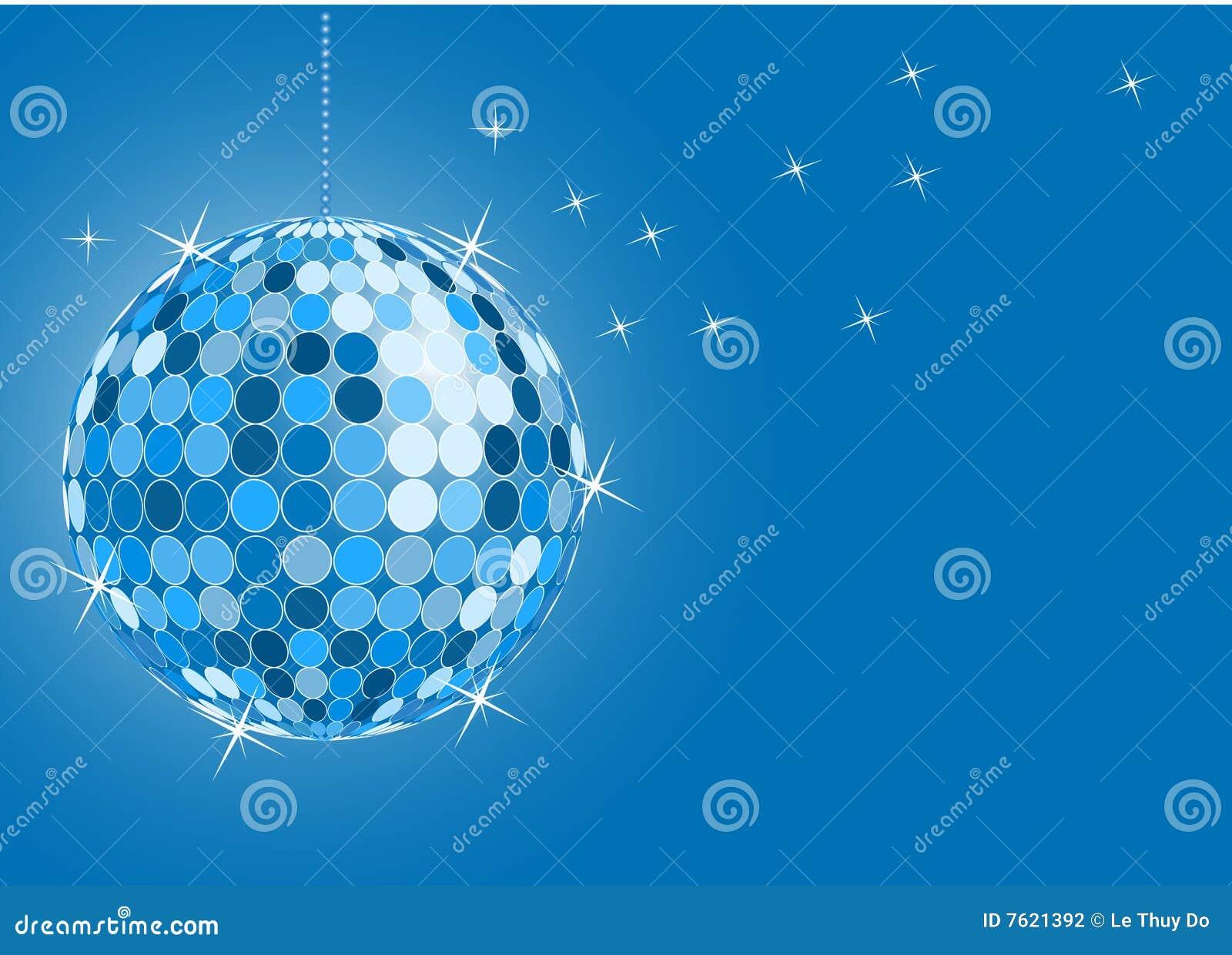 Esfera azul do disco