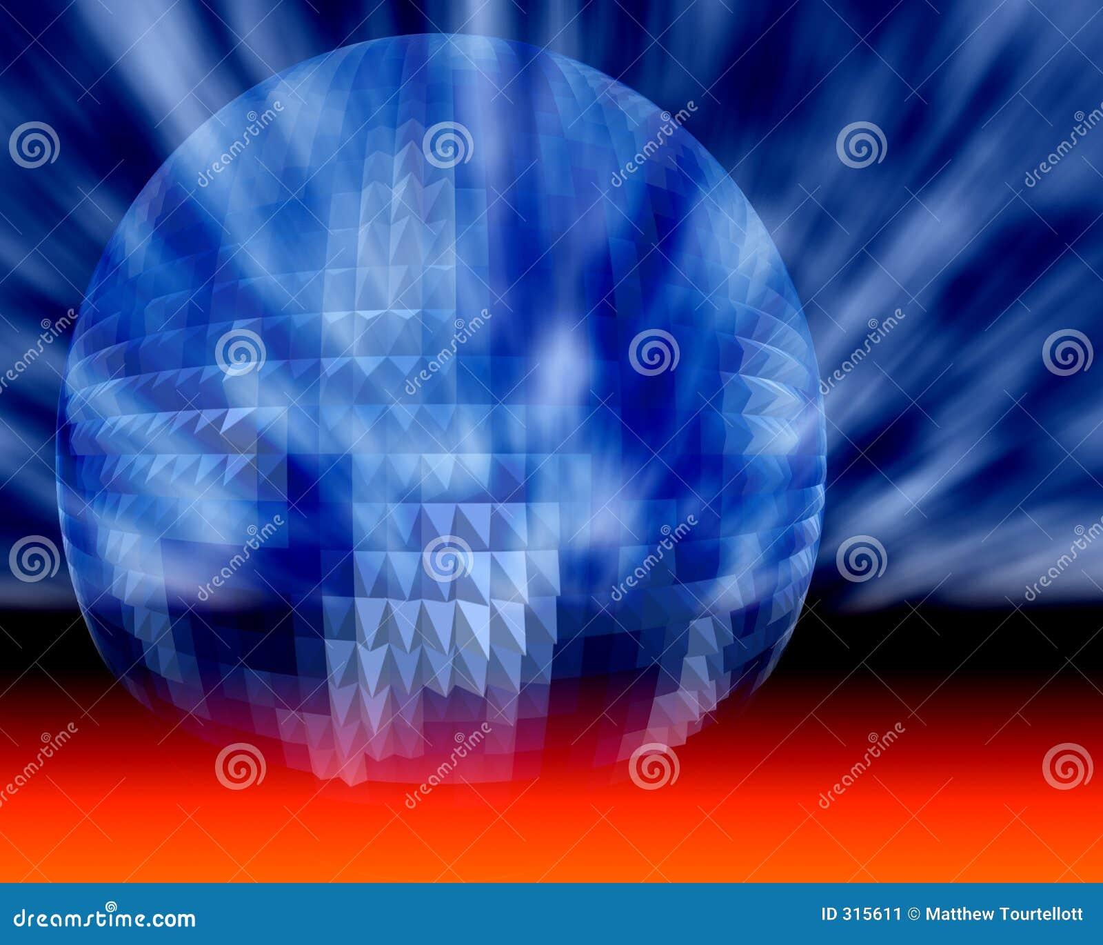 Esfera cósmica do negócio, da ciência e da tecnologia