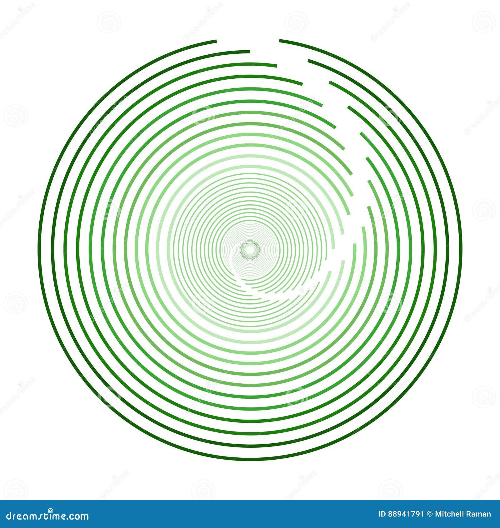 Esfera circular verde Logo Design moderno