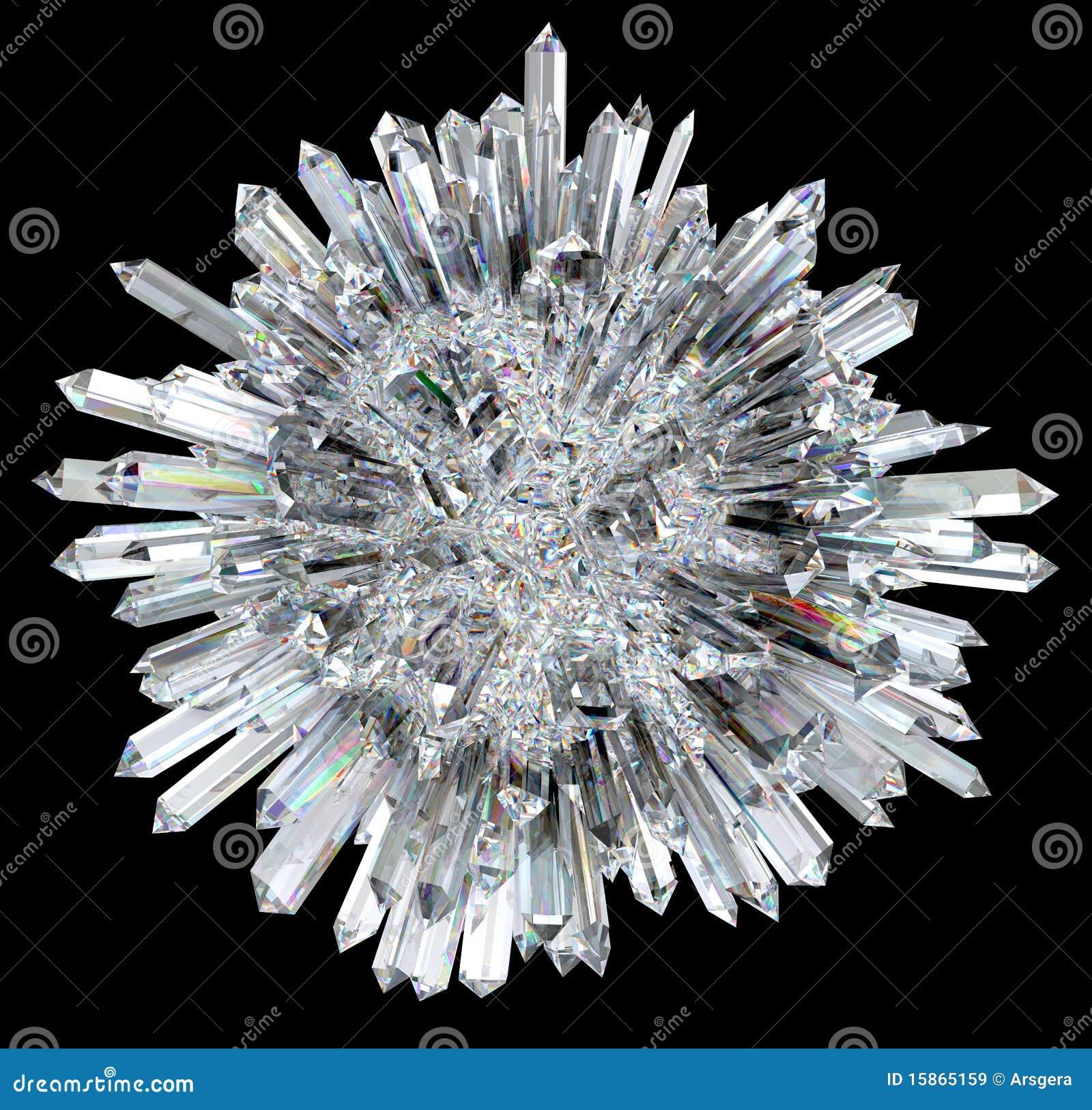 Esfera cristalina con las columnas agudas