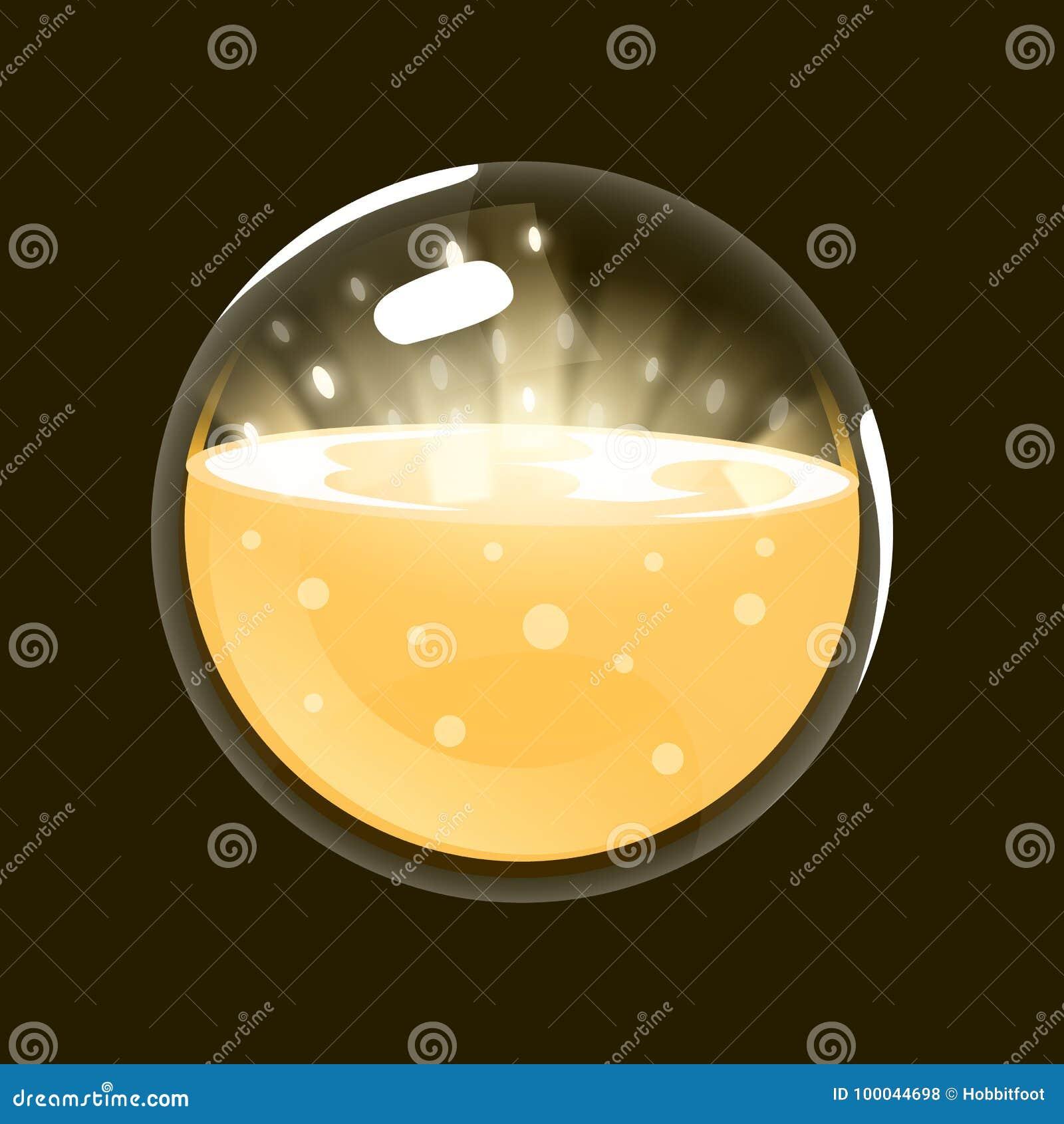 Esfera da luz Ícone do jogo da esfera mágica Relação para o jogo rpg ou match3 Sun, luz, energia Variação grande