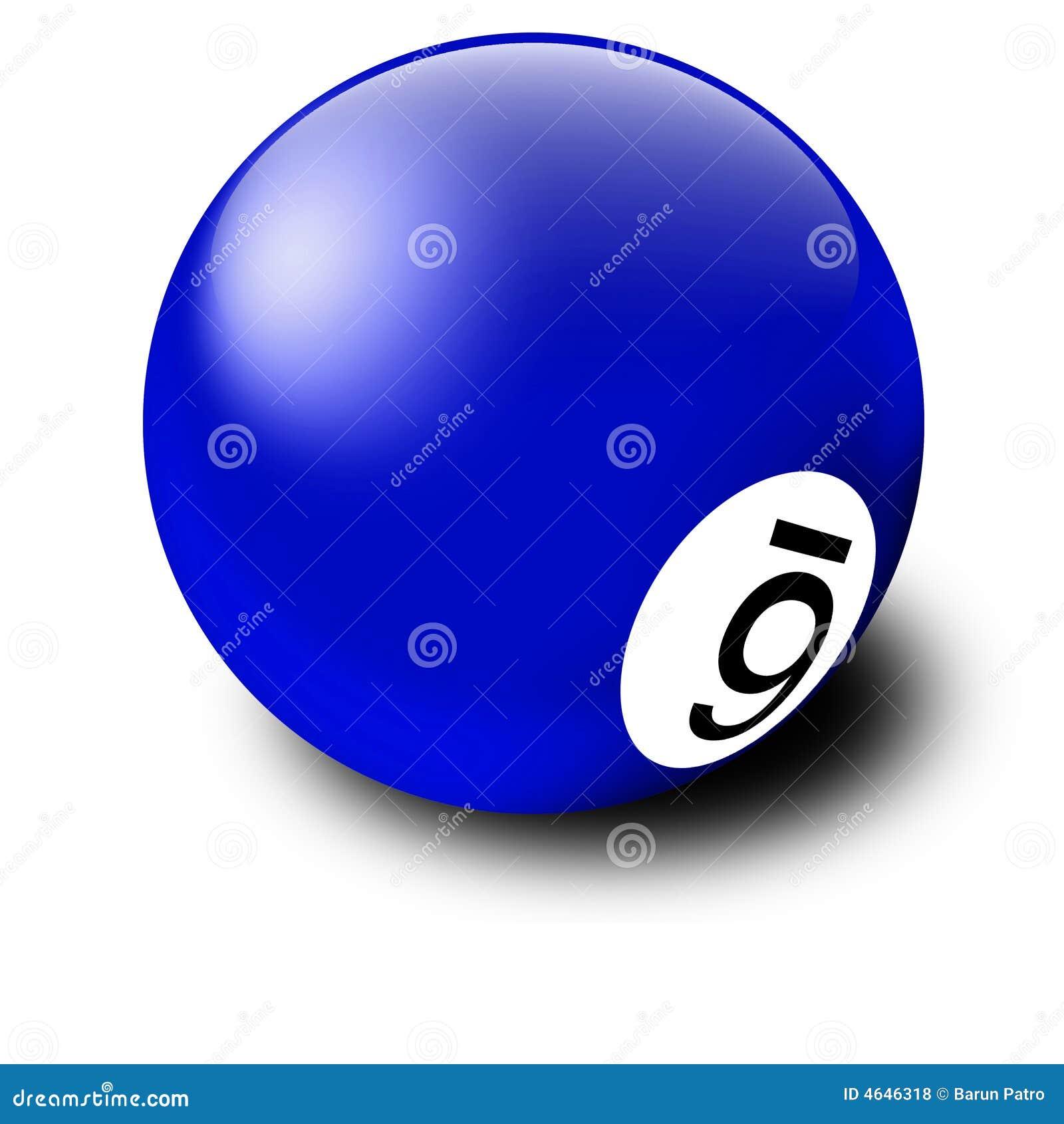 Esfera de bilhar azul