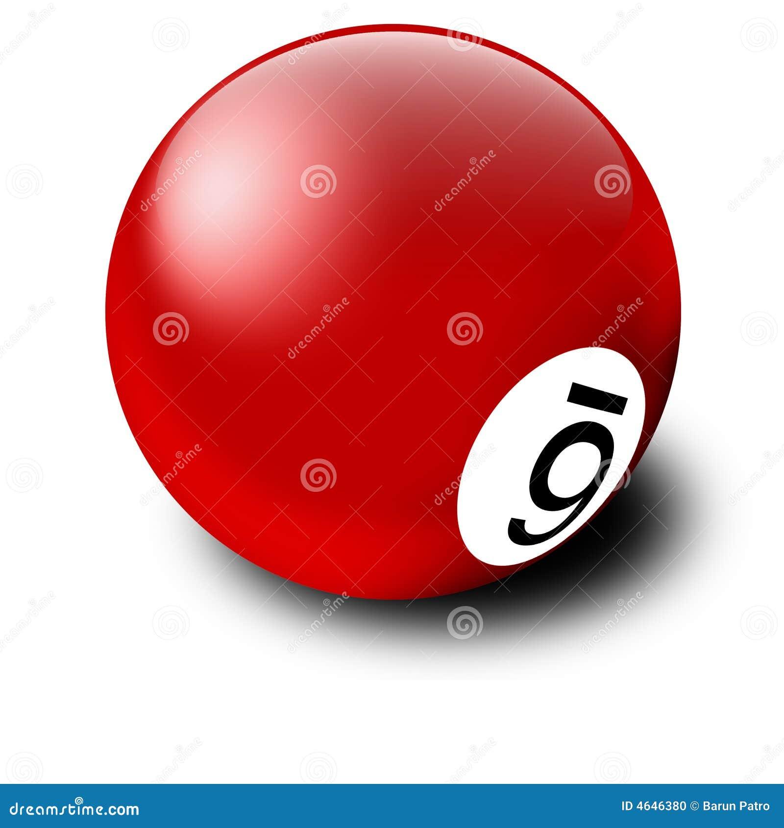 Esfera de bilhar vermelha