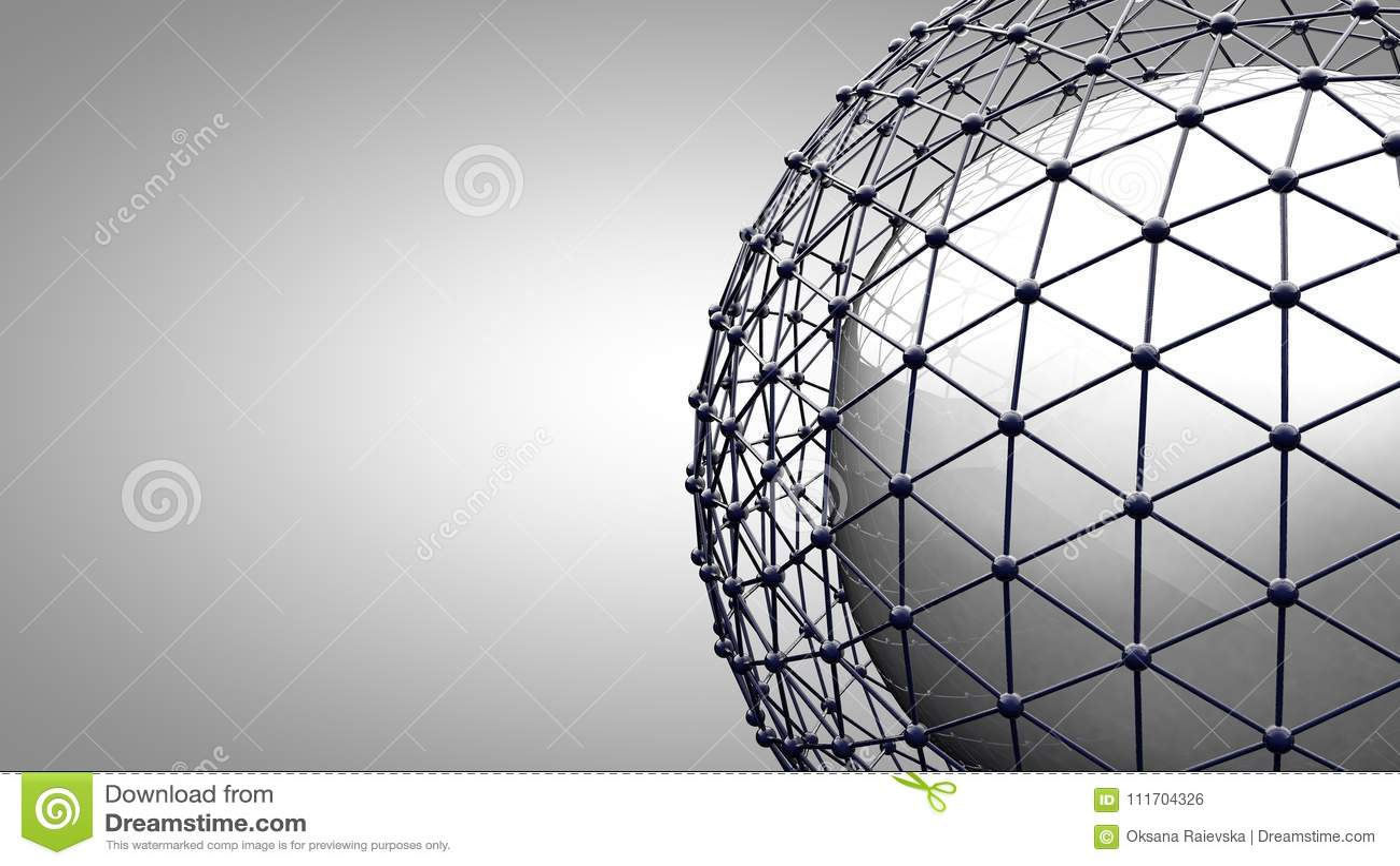 Esfera de conexão de Wireframe