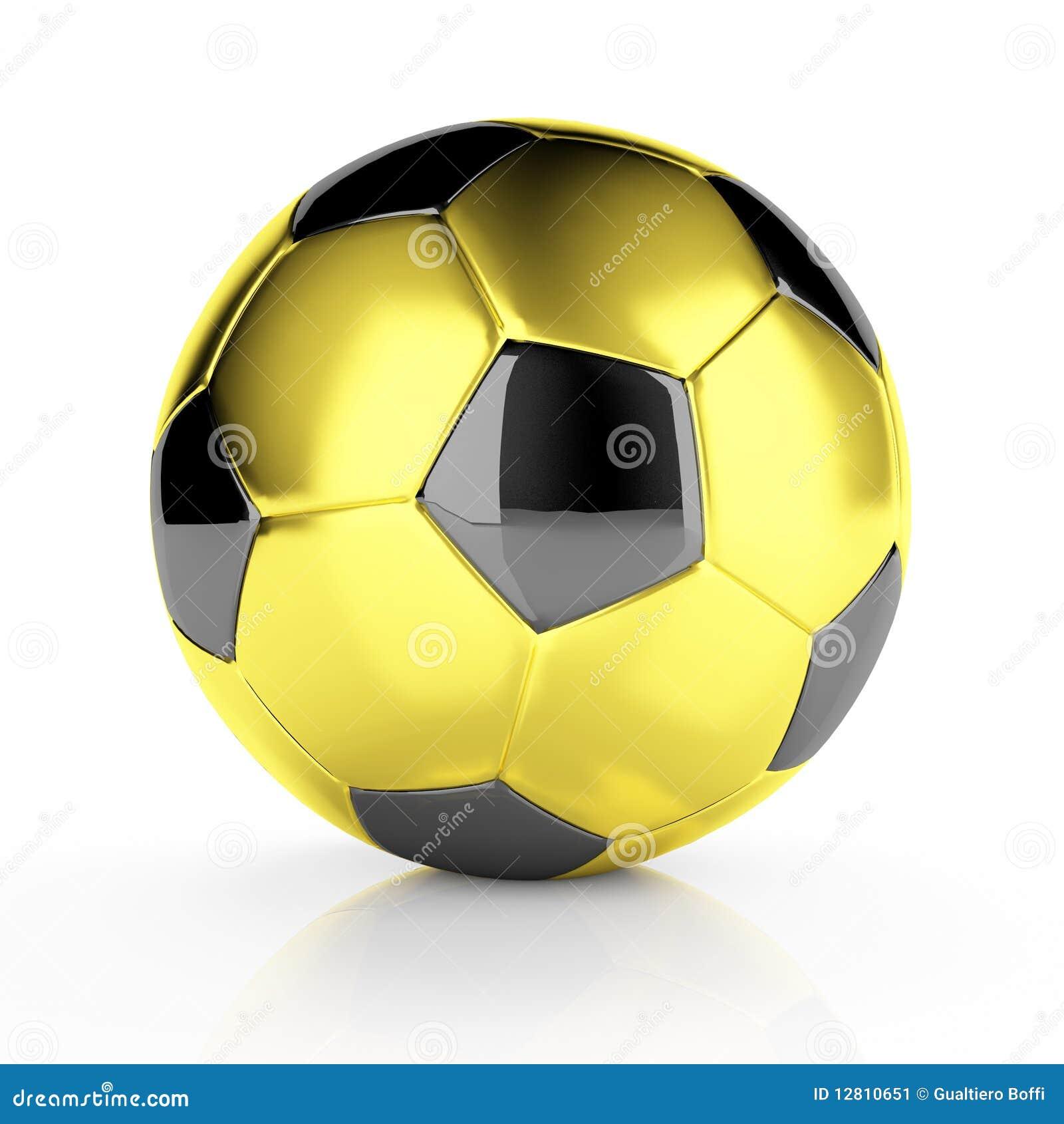 Esfera de futebol dourada
