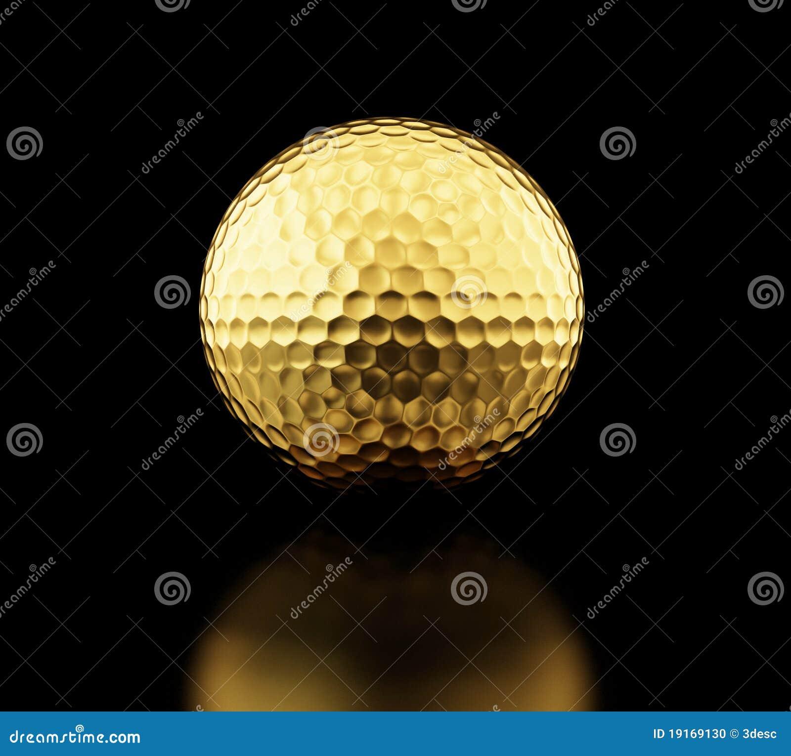 Esfera de golfe do ouro