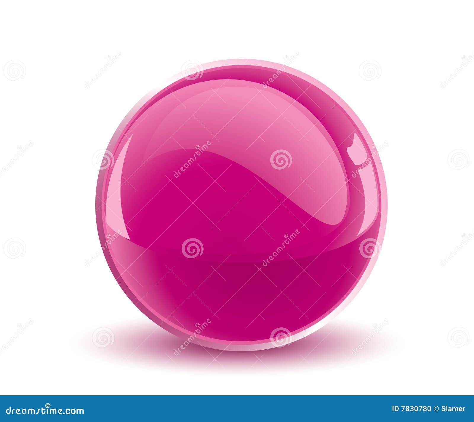 Esfera de la púrpura del vector 3d
