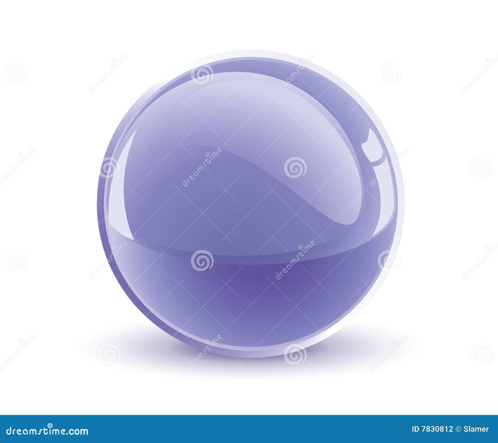 Esfera de la violeta del vector 3d