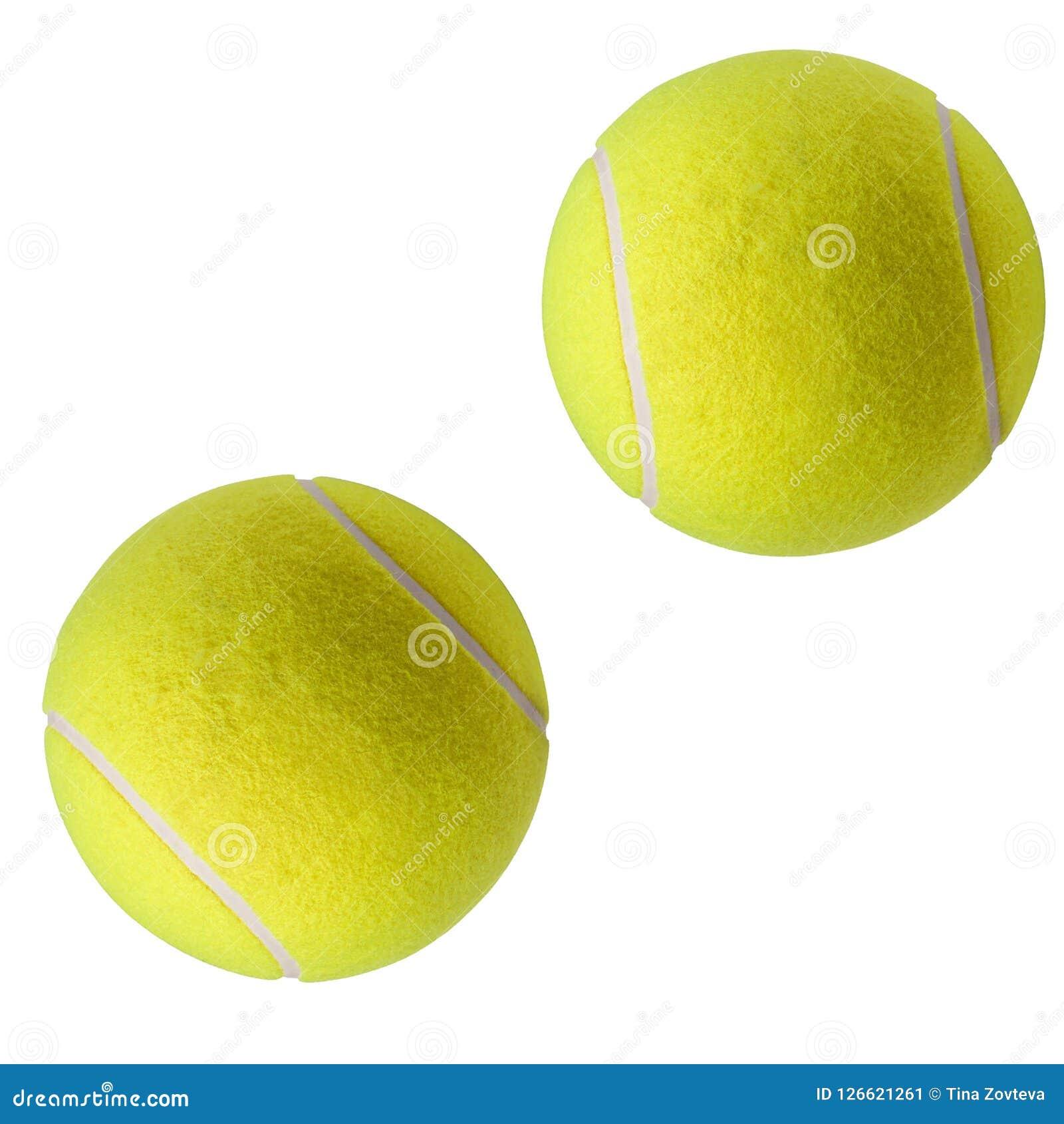 Esfera de tênis isolada no branco