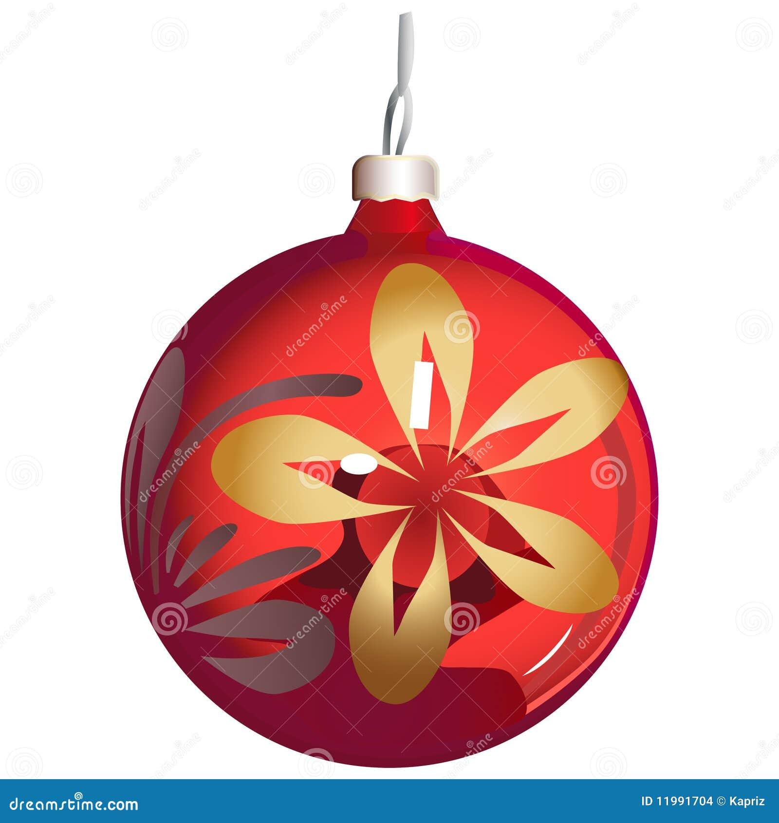 Esfera del ornamento del navidad rbol ilustraci n del for Dibujos de navidad bolas