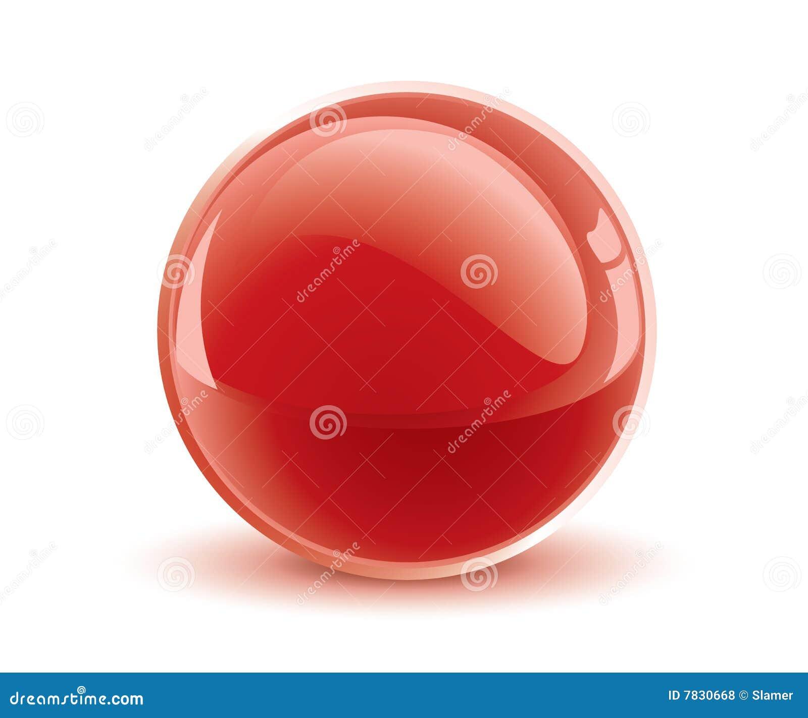 Esfera del rojo del vector 3d
