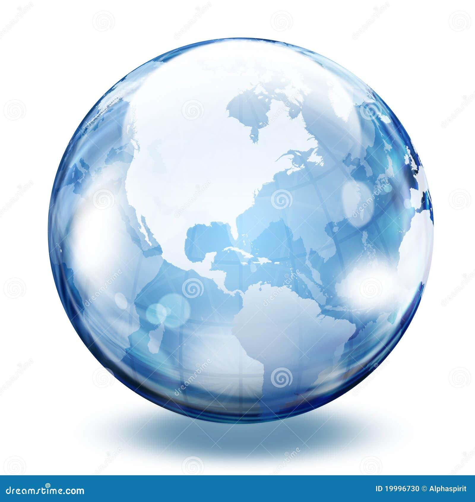 Esfera del vidrio del mundo stock de ilustraci n imagen for El mundo del mueble sillones
