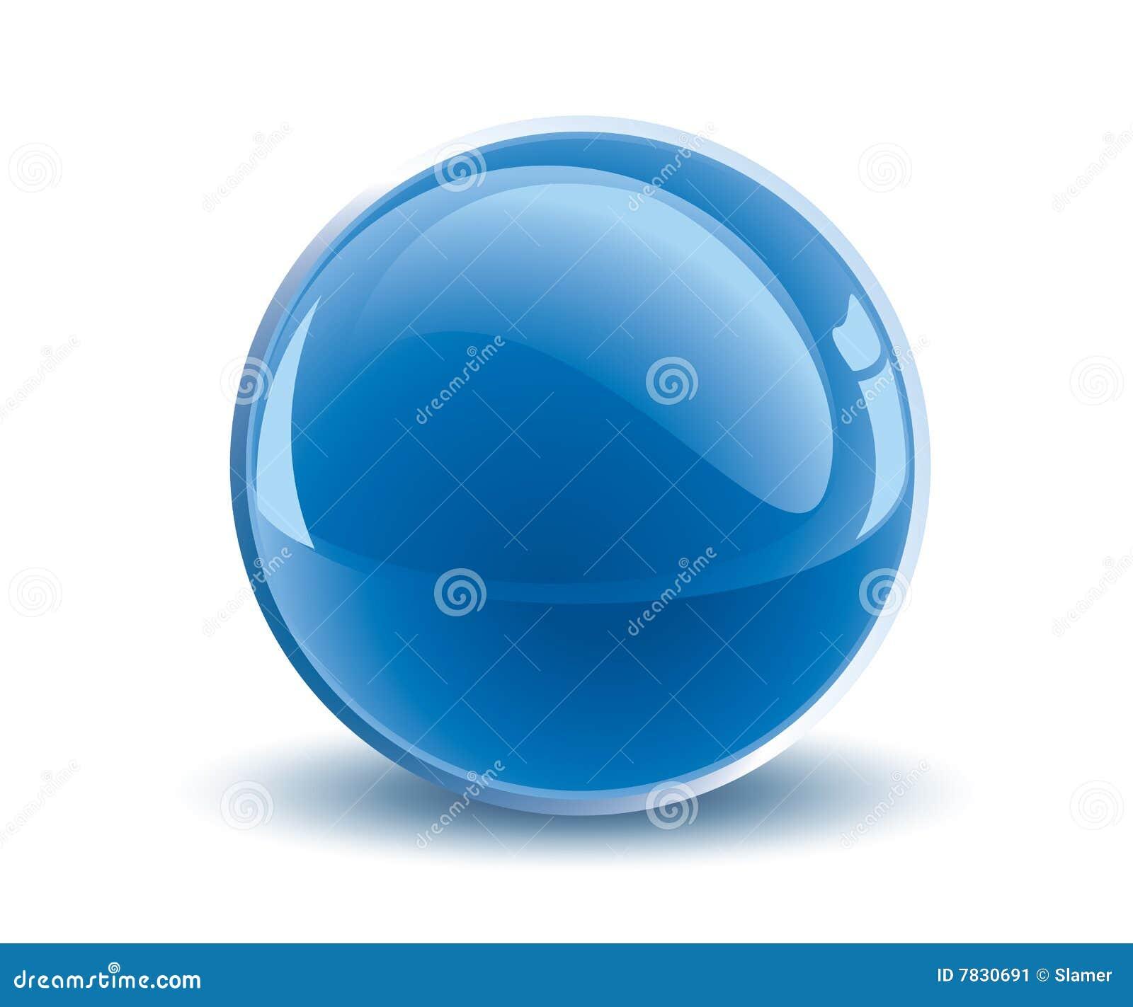 Esfera do azul do vetor 3d