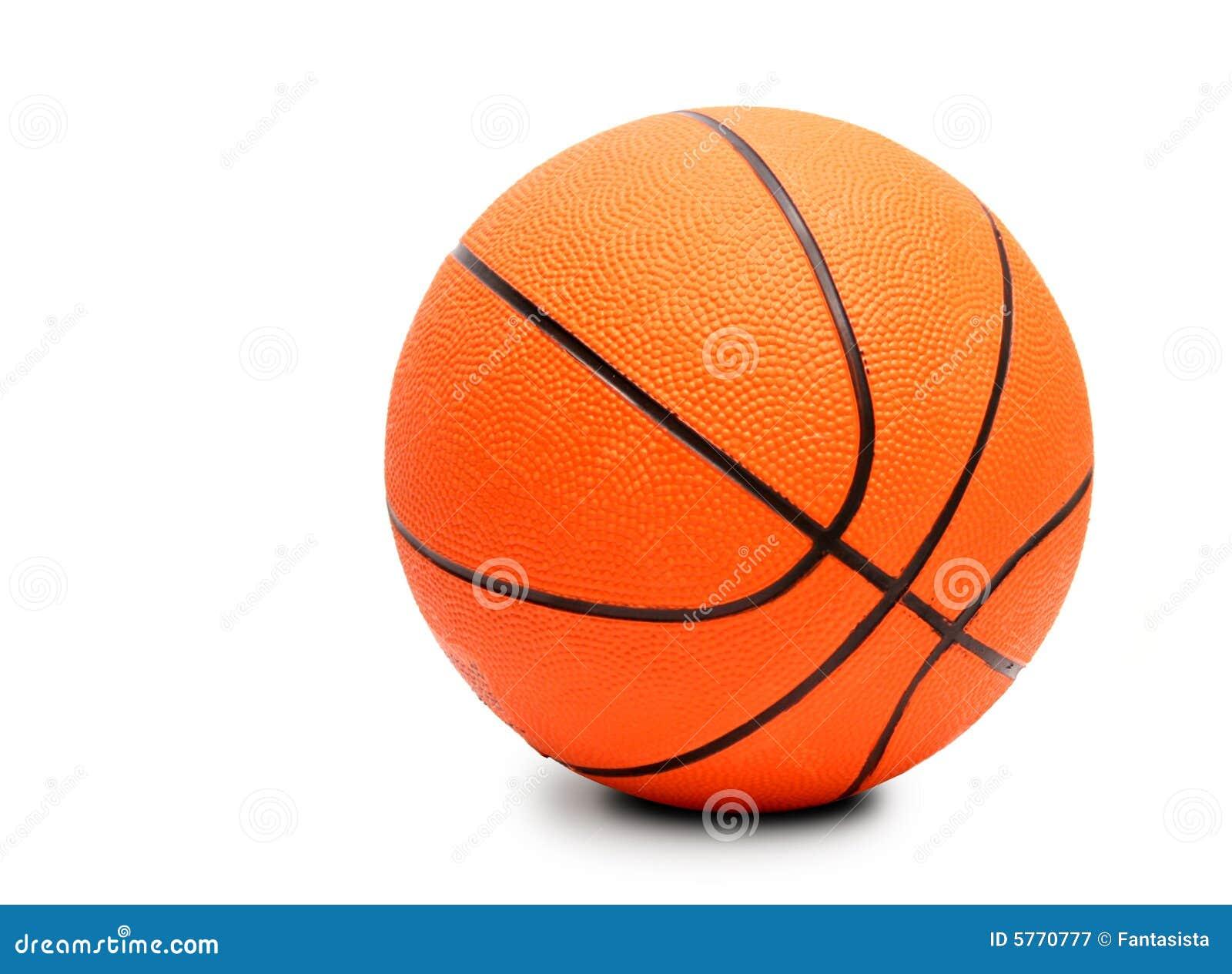 Esfera do basquetebol. Isolado no branco.