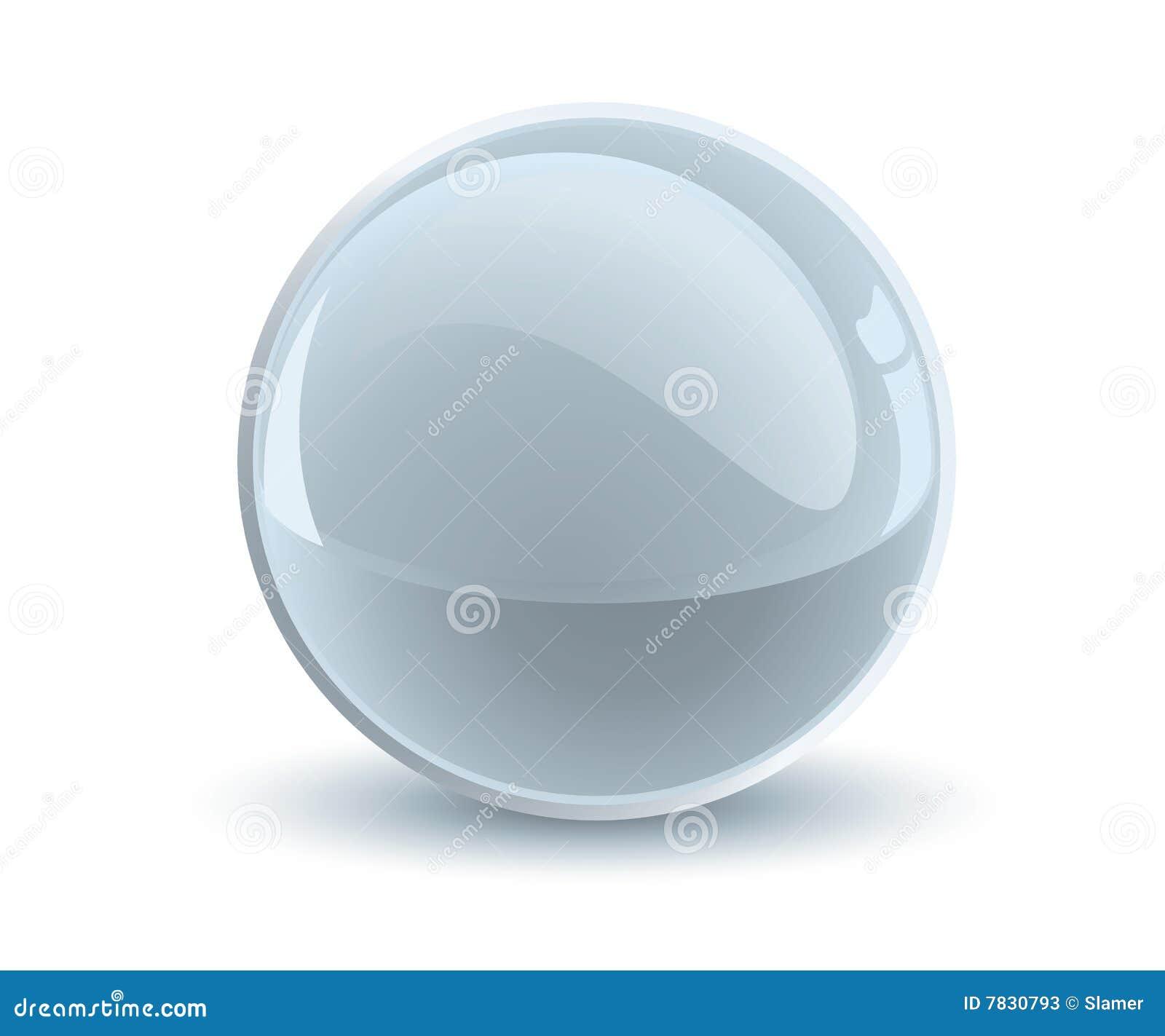 Esfera do cinza do vetor 3d