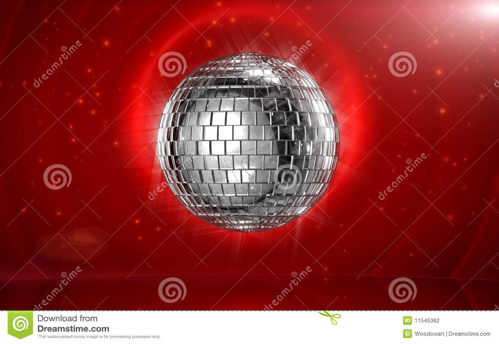 Esfera do disco no estágio vermelho