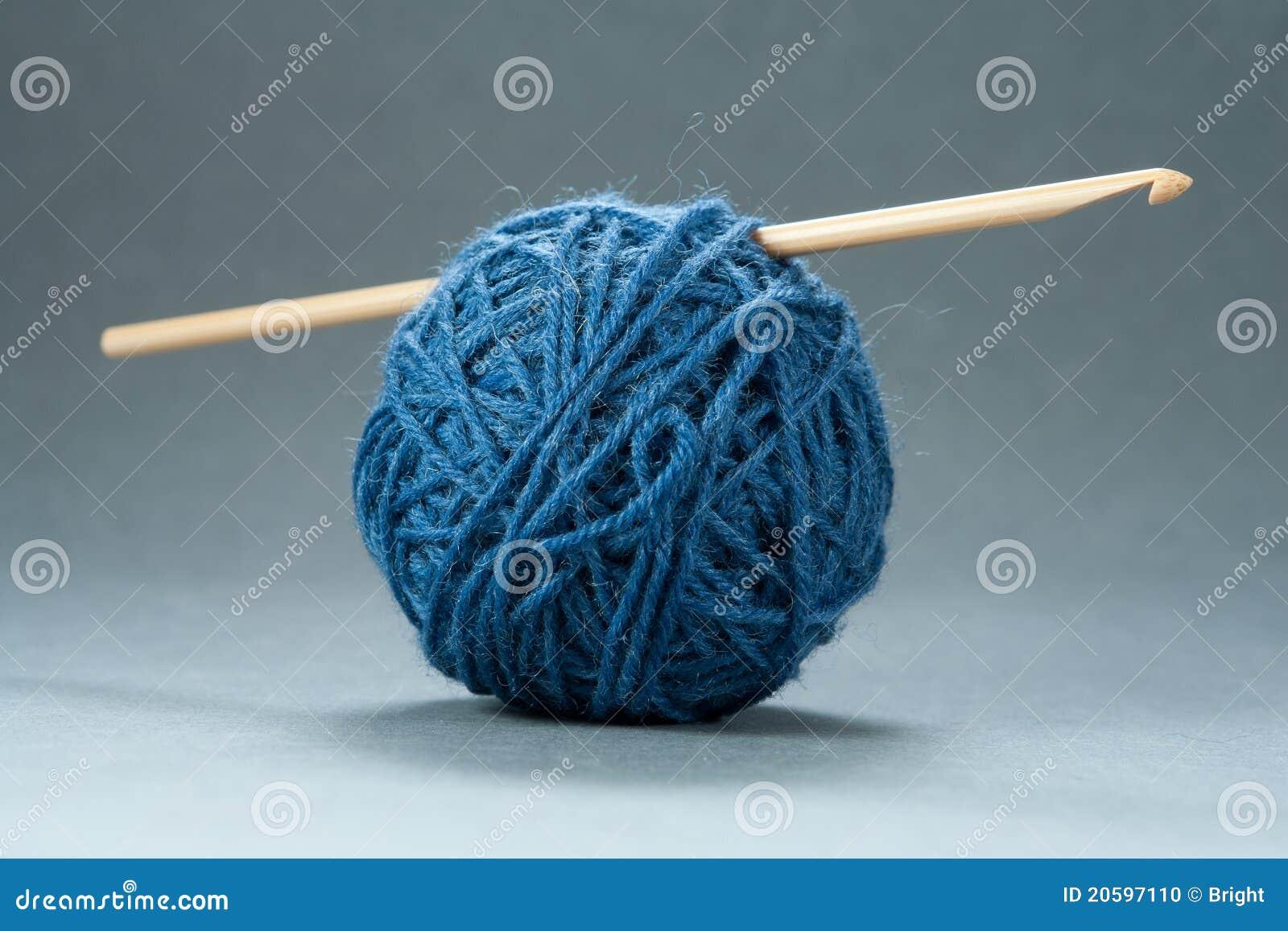 Esfera do fio com gancho de Crochet