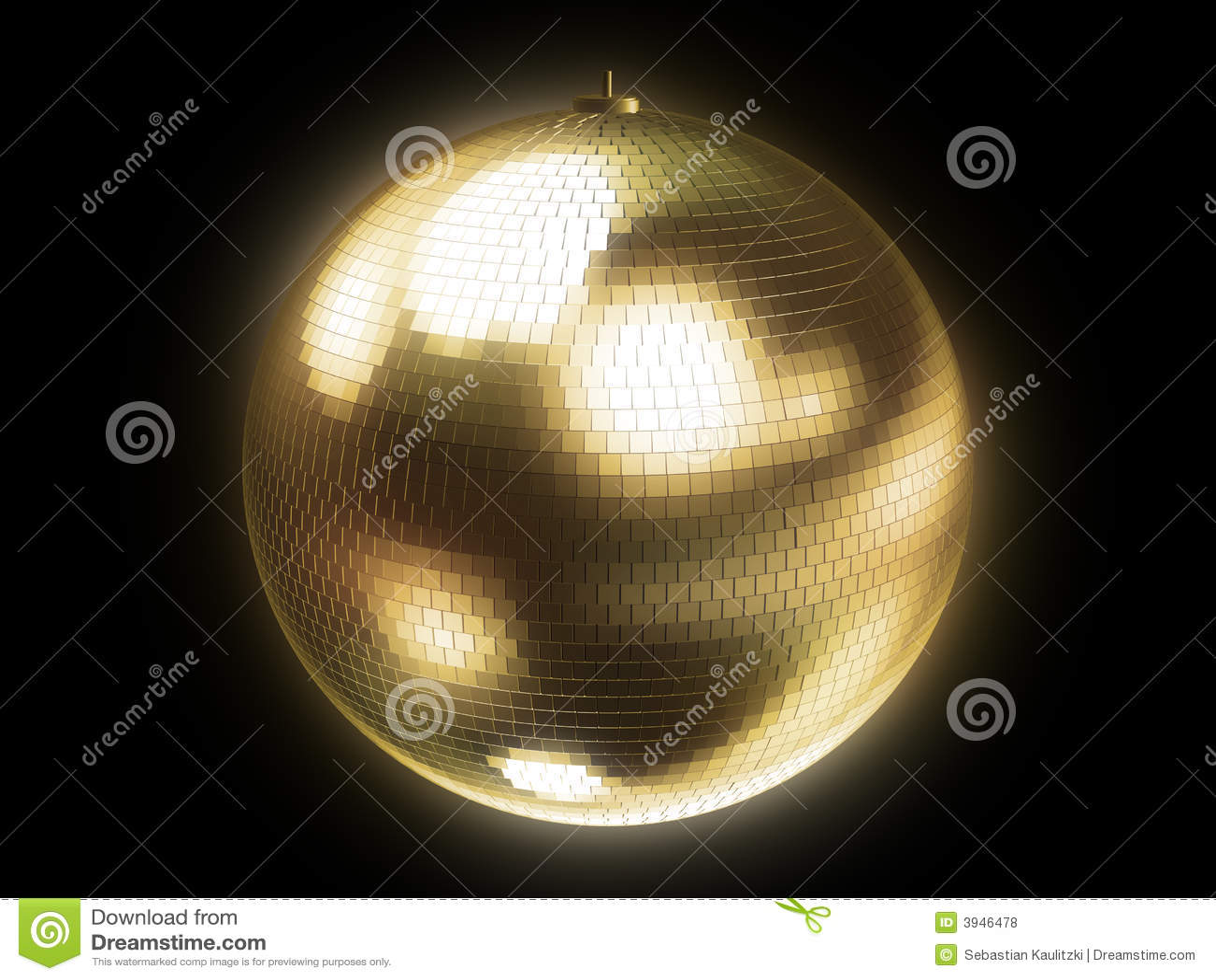 Esfera dourada do disco