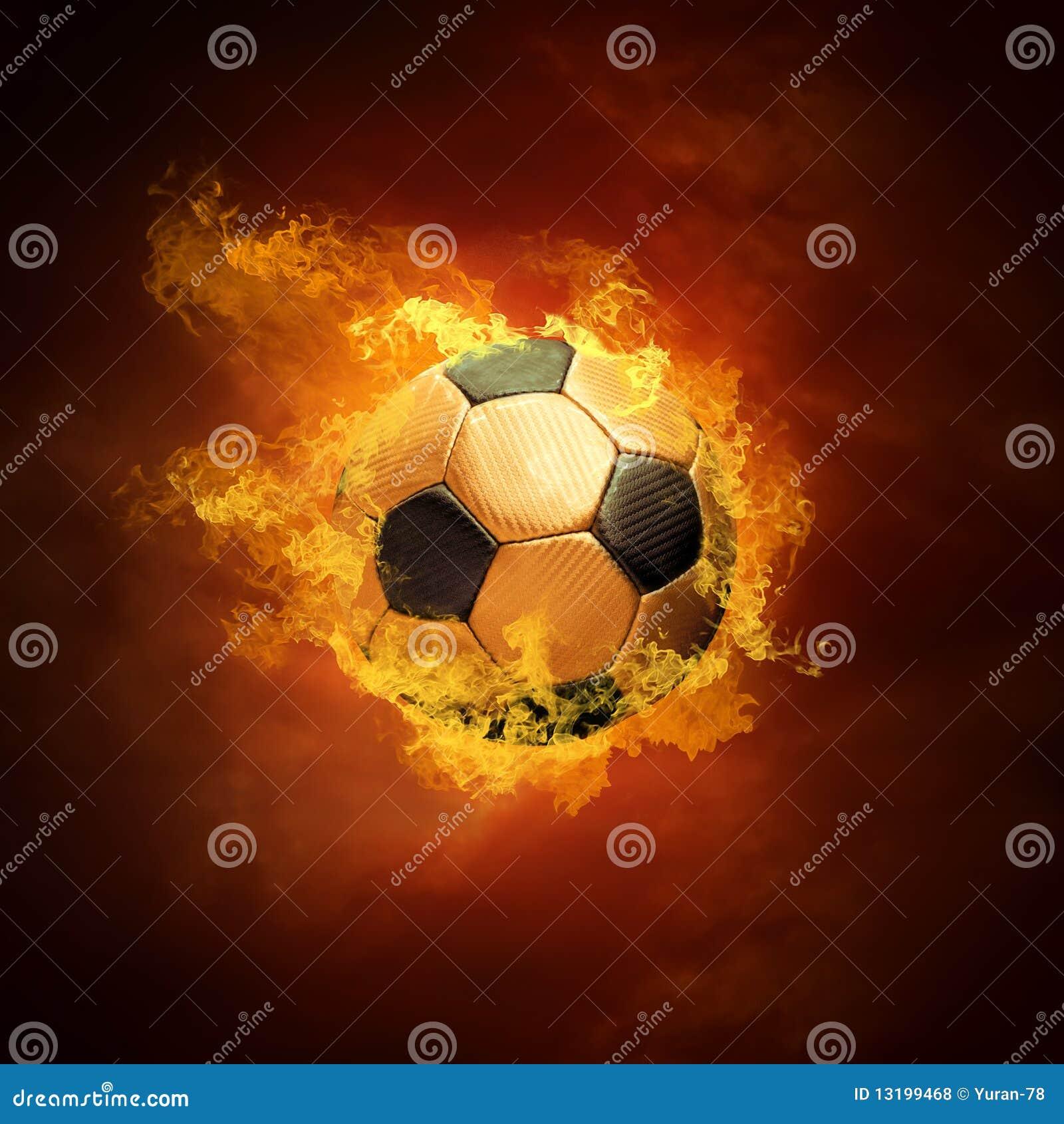 Esfera e incêndio de futebol