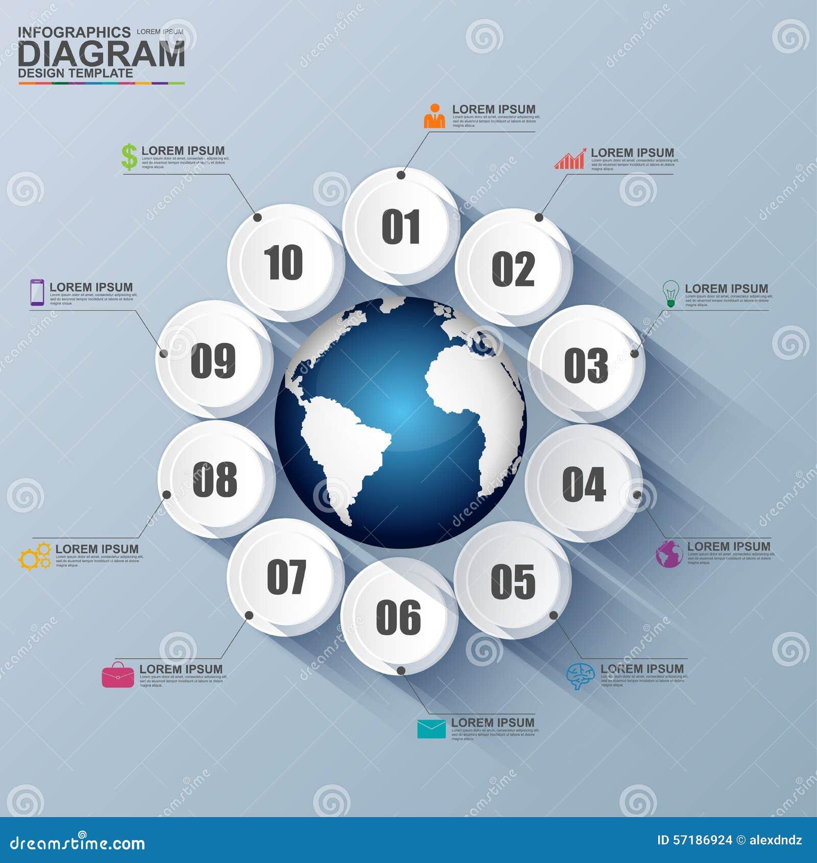 Esfera económica digital abstracta 3D Infographic