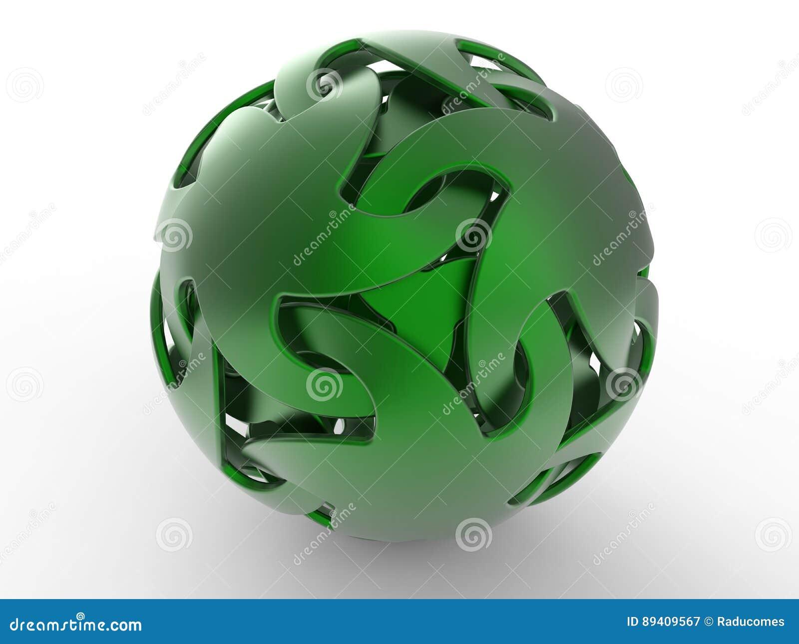 Esfera verde abstrata