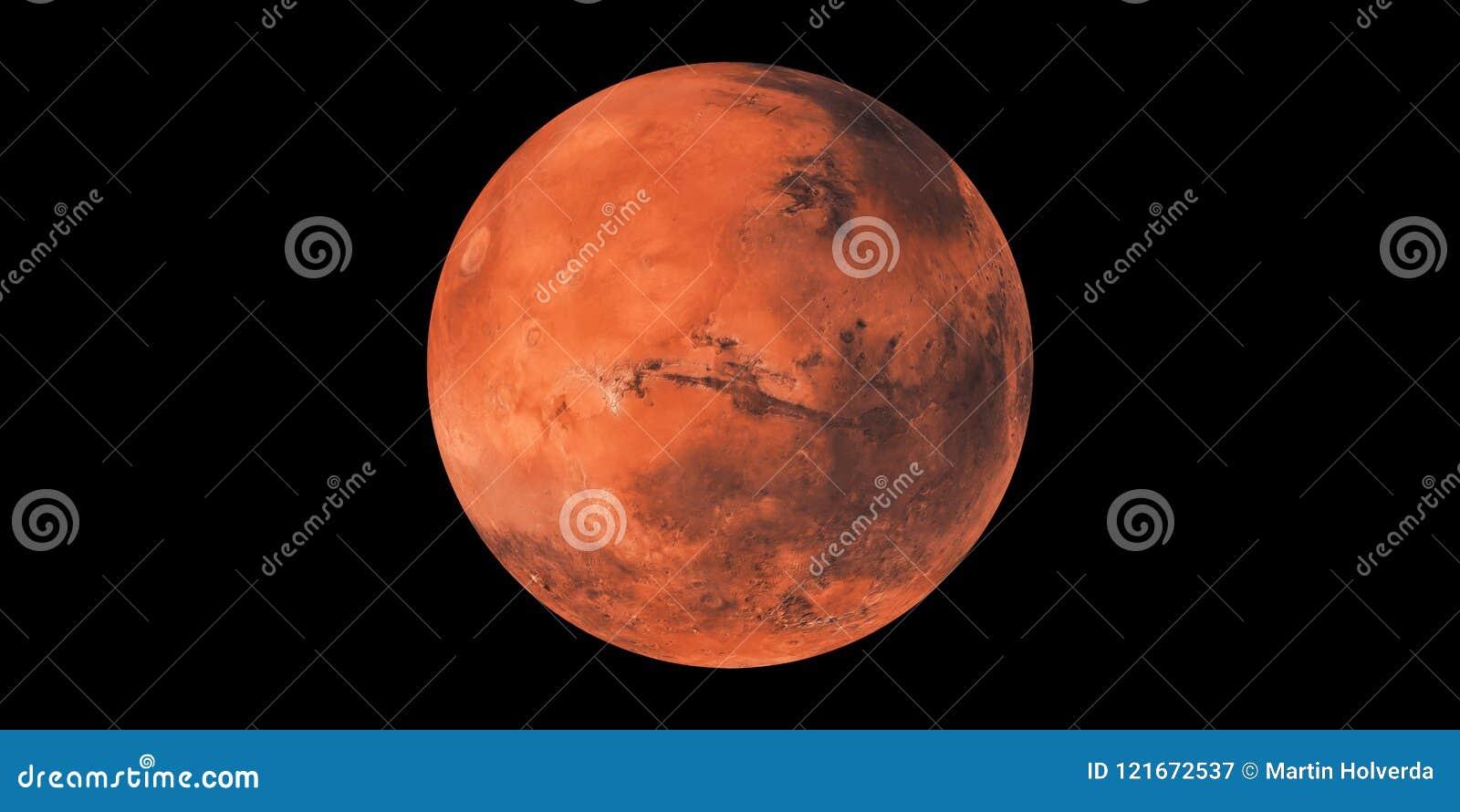 Esfera vermelha do planeta de Marte do planeta