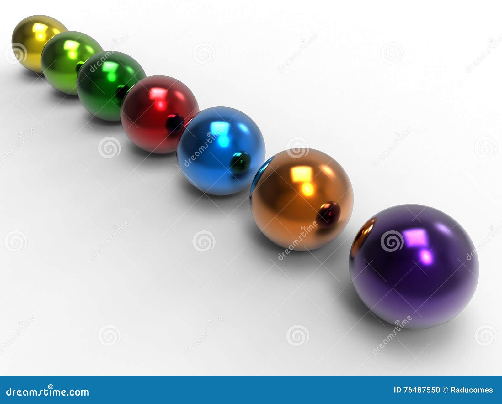 Esferas coloridas - concepto de la diversidad