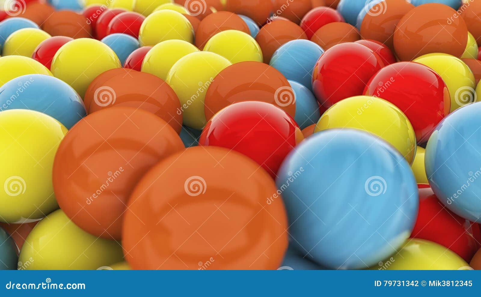 Esferas coloridas 3D