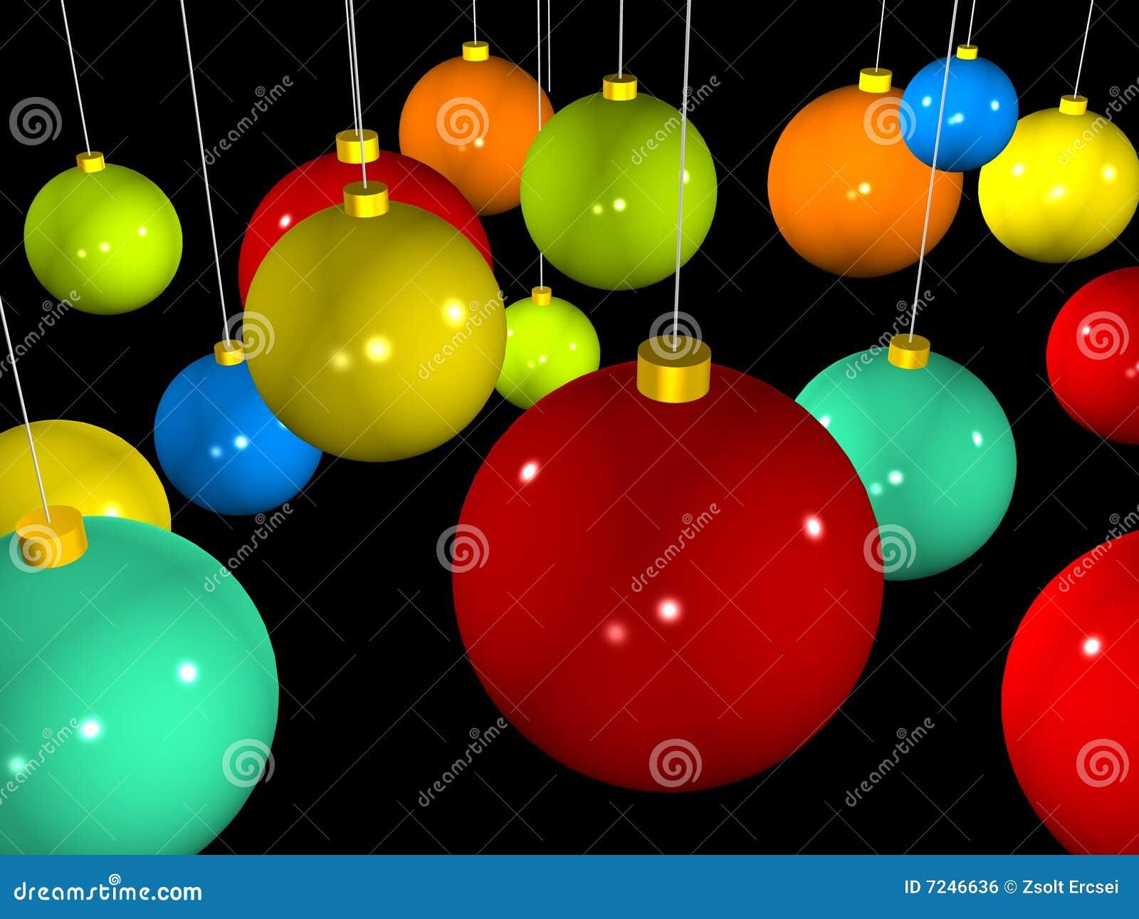 esferas coloridas do natal d imagem de stock royalty free