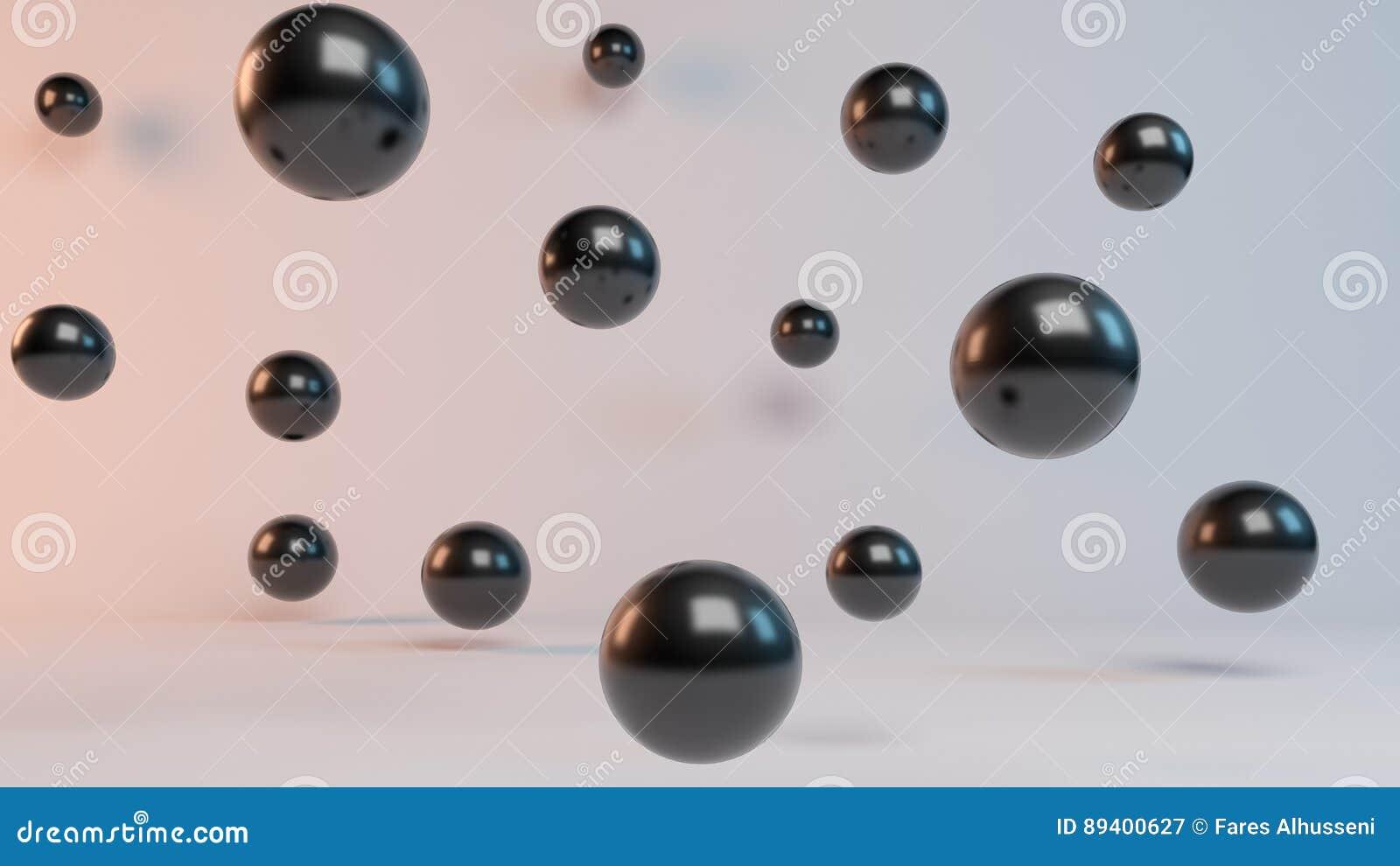 Esferas da rendição do voo 3d