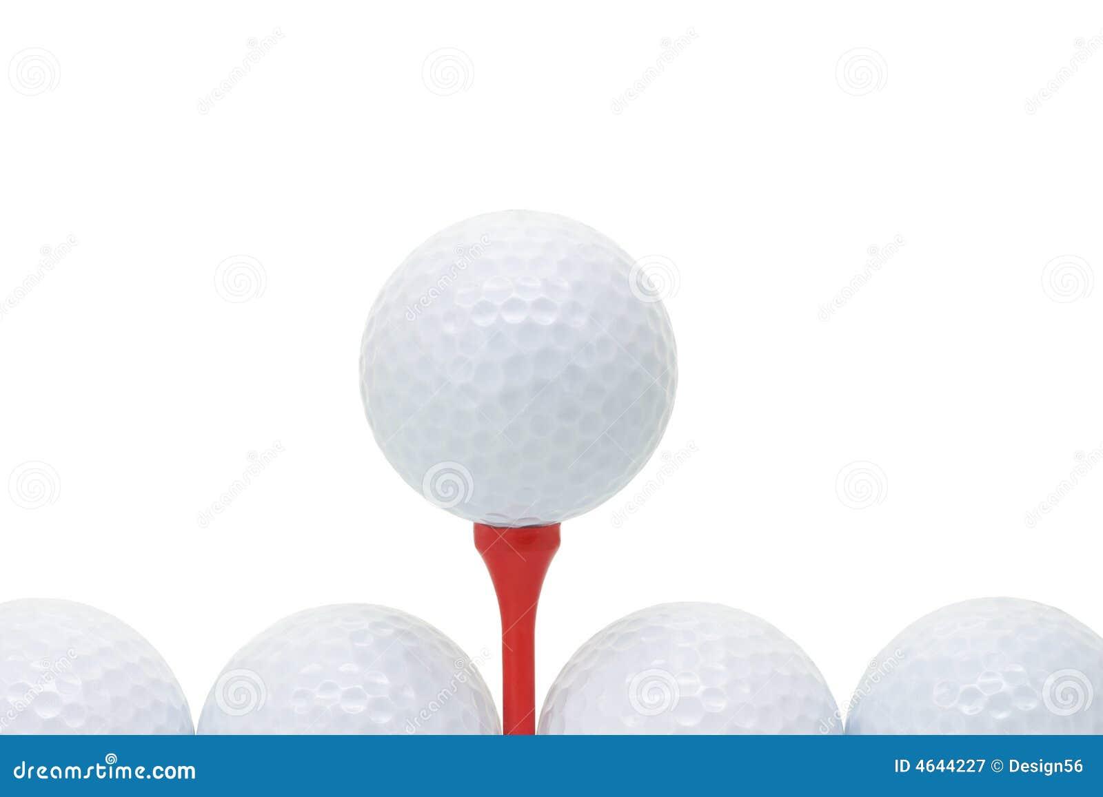 Esferas de golfe com T