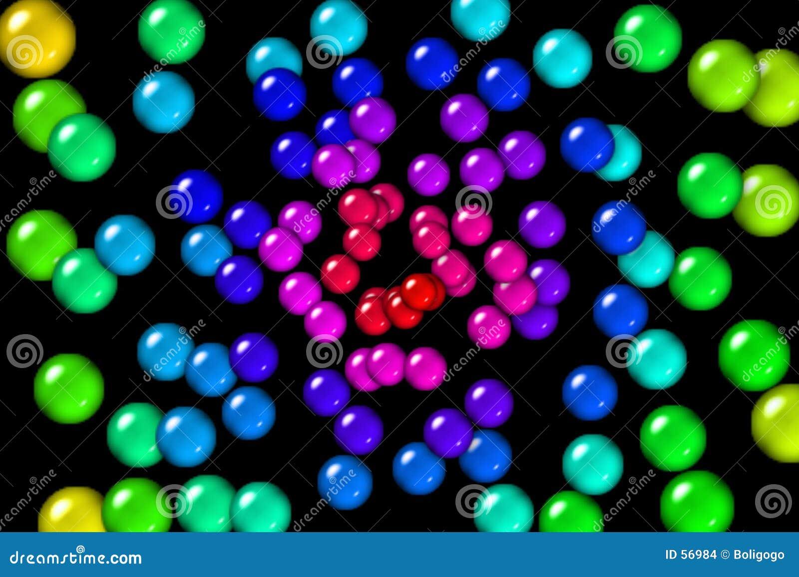 Esferas de goma do arco-íris