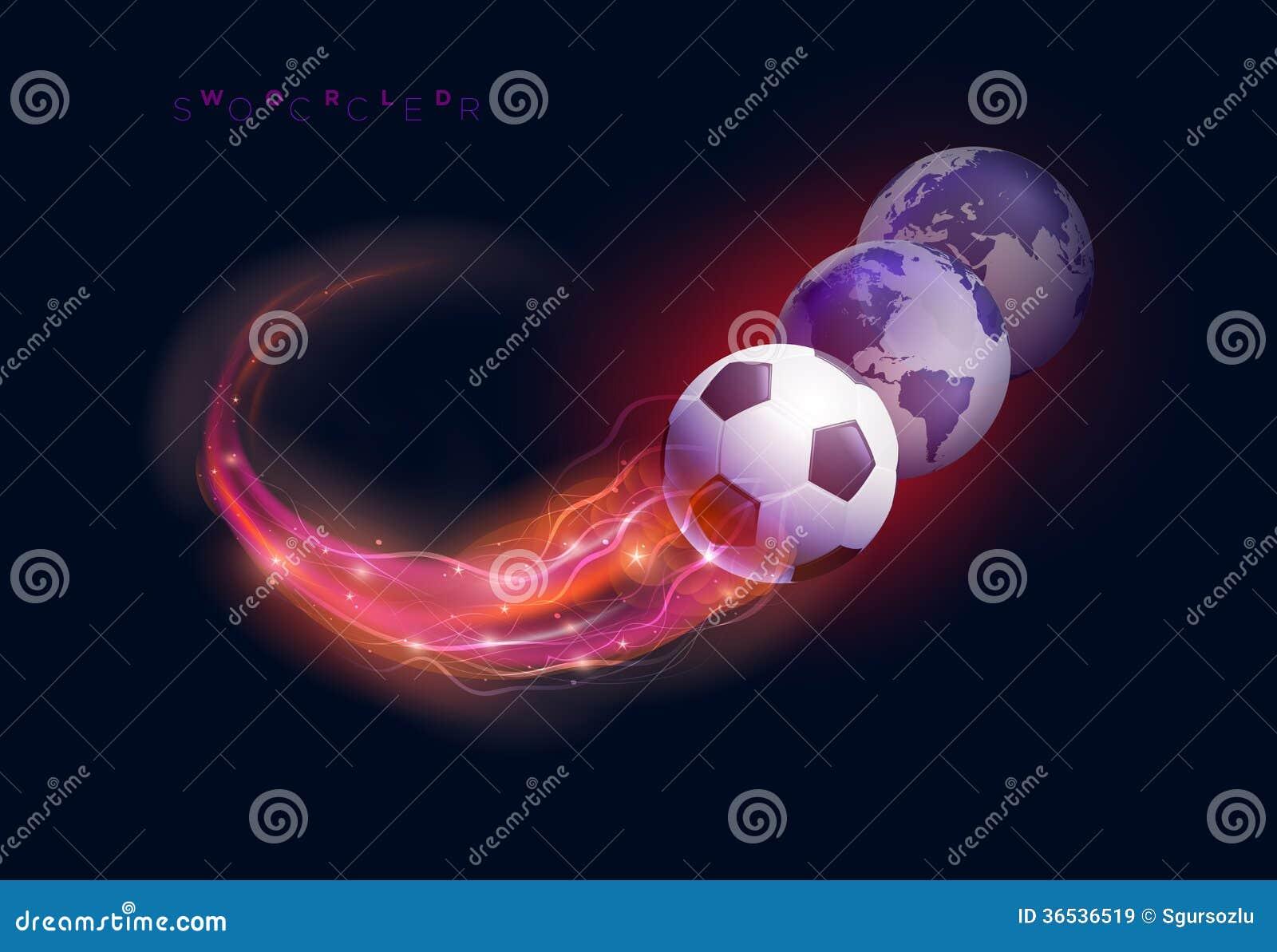Esferas de la bola y del mundo de fútbol