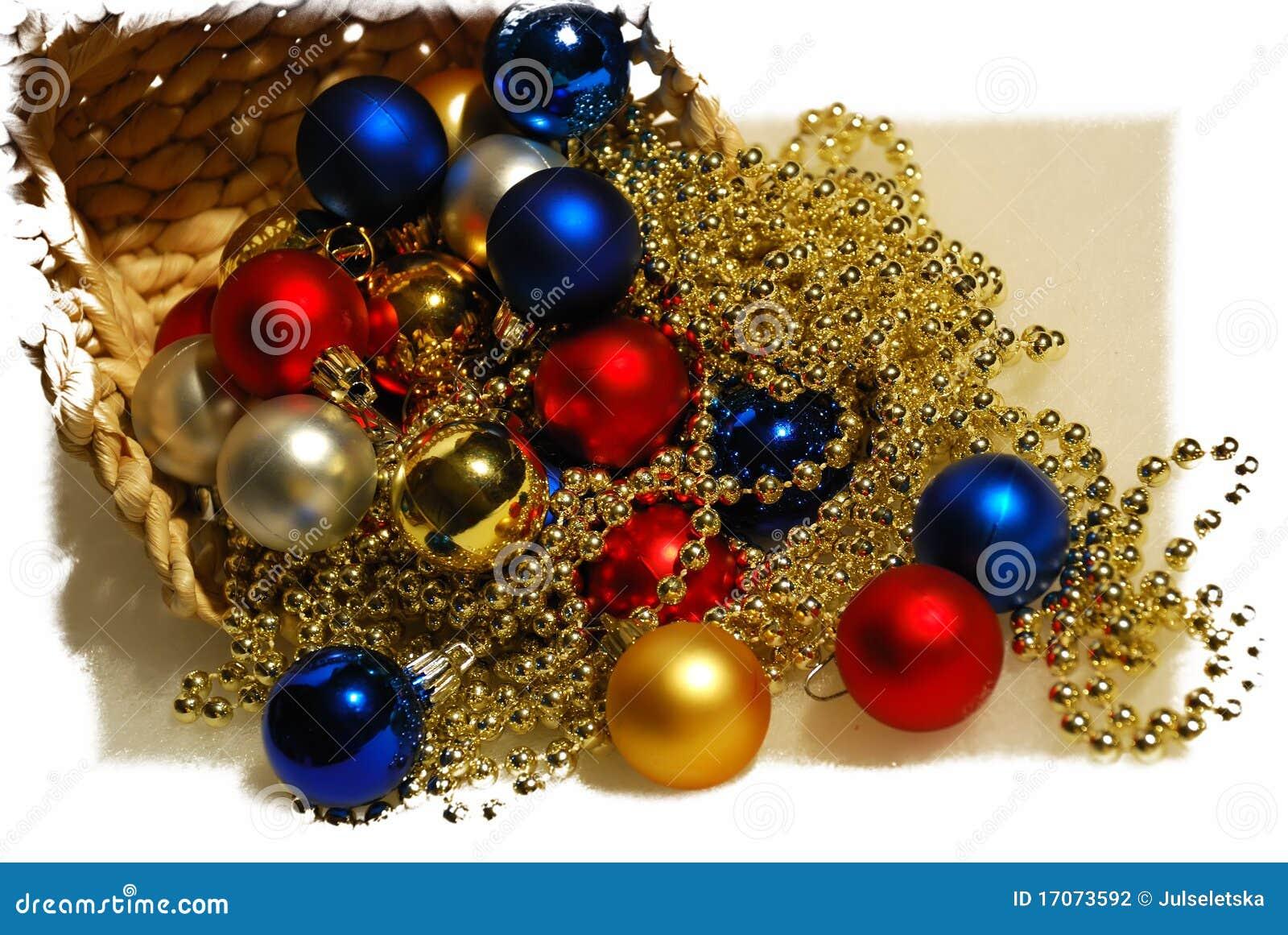Esferas de las decoraciones del navidad rbol de la cesta - Decoraciones del arbol de navidad ...