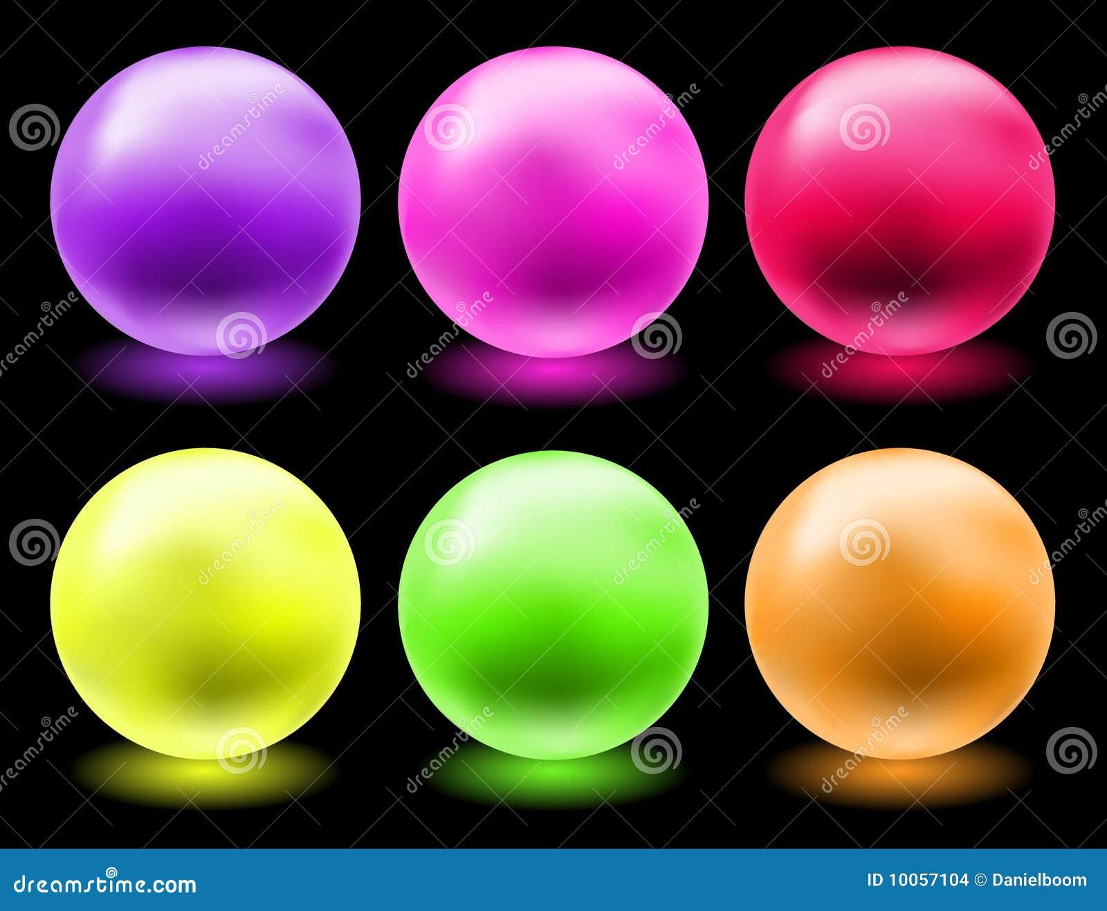 Esferas de vidro de incandescência