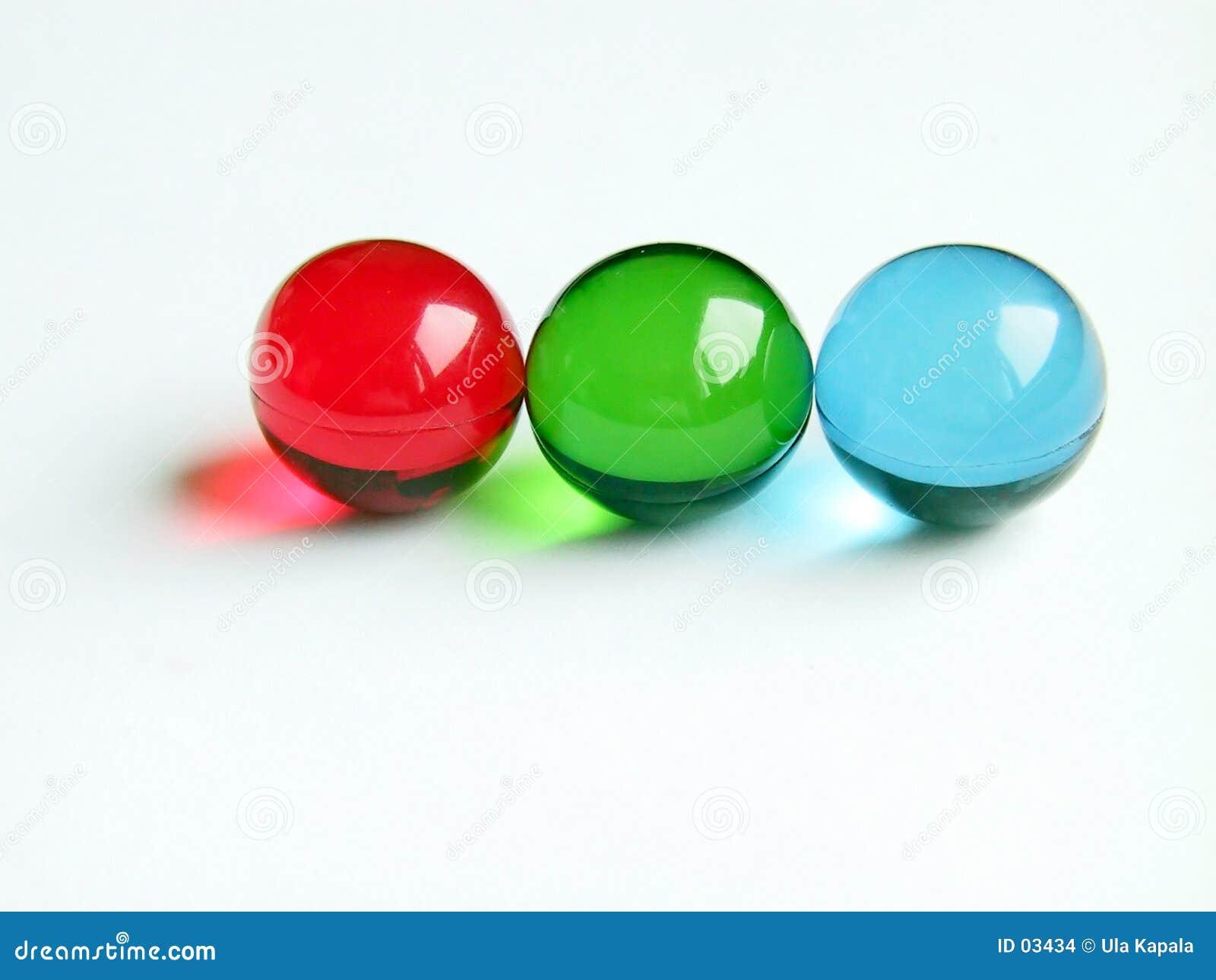 Esferas do banho do RGB