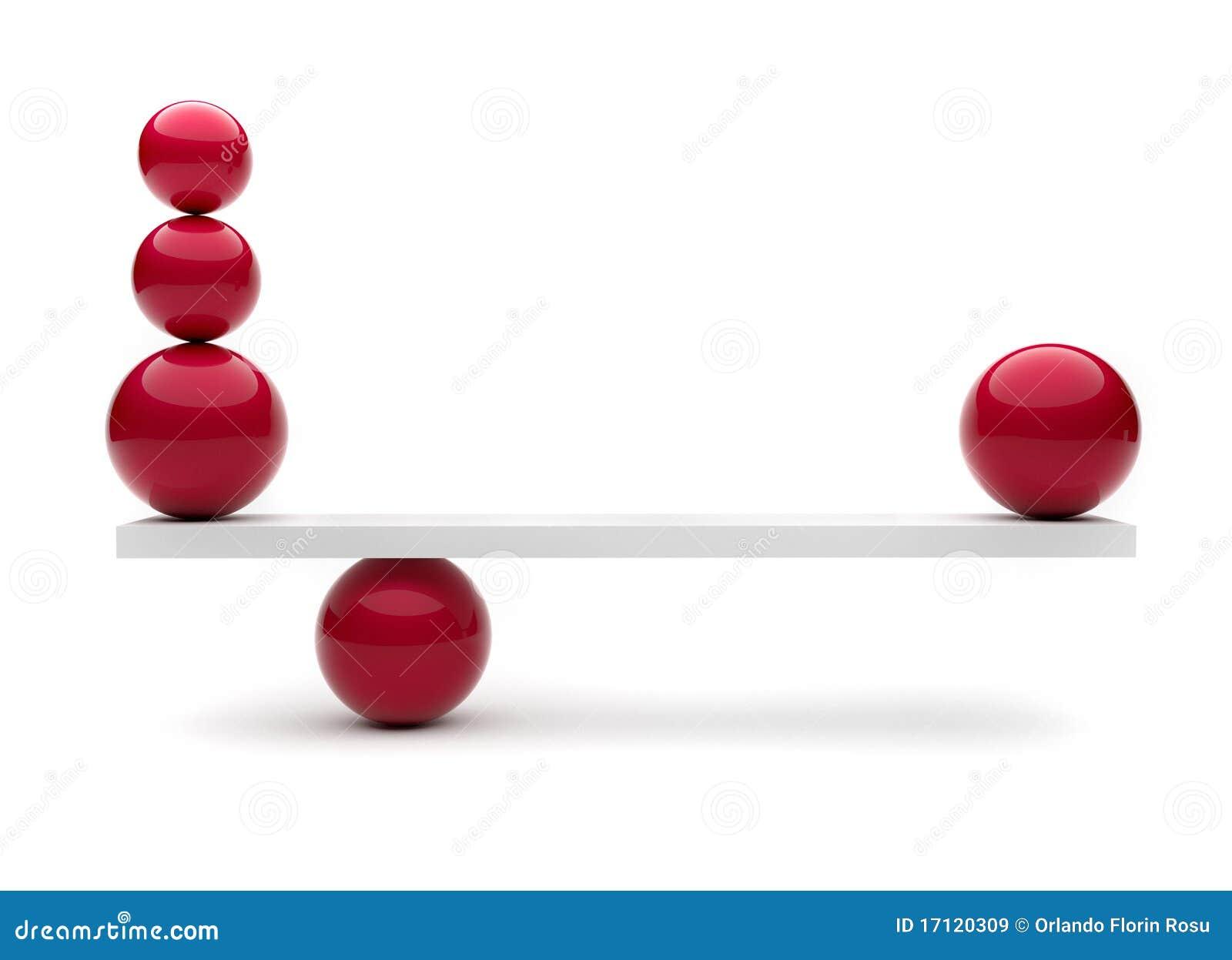 Esferas en equilibrio