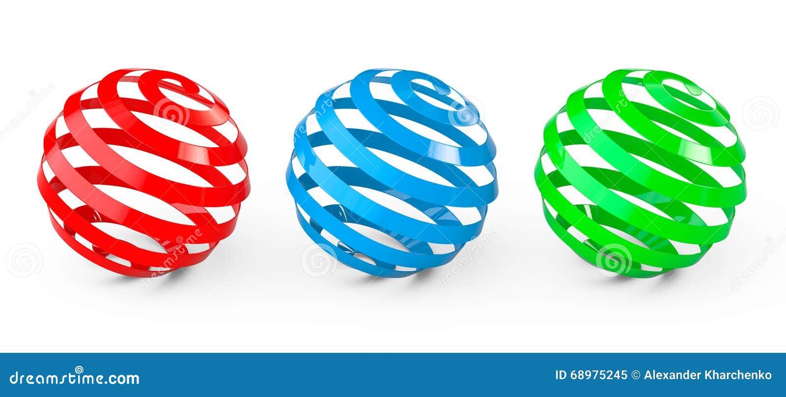 Esferas espirales abstractas